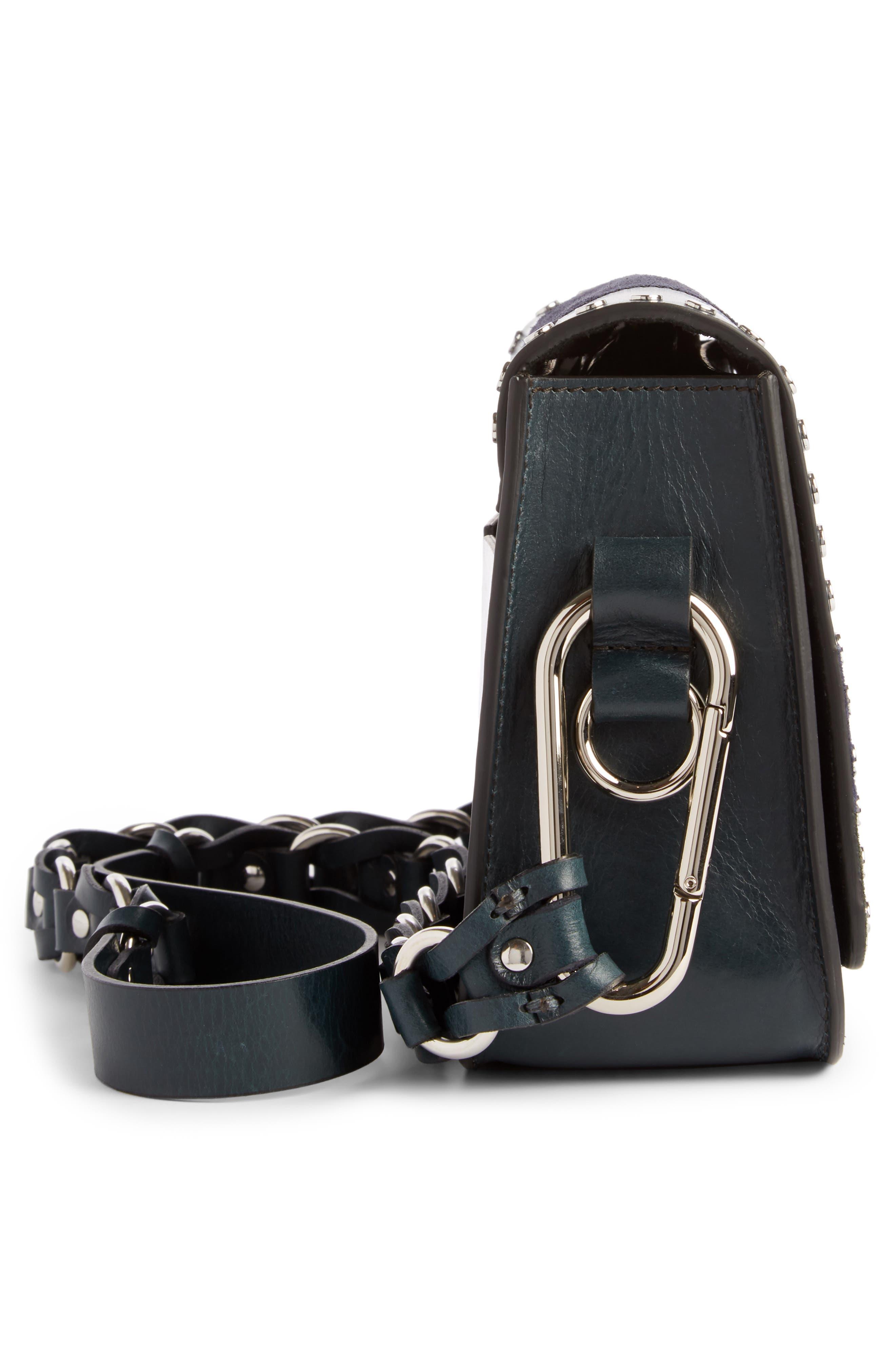 Calibar Patchwork Leather Crossbody Bag,                             Alternate thumbnail 3, color,