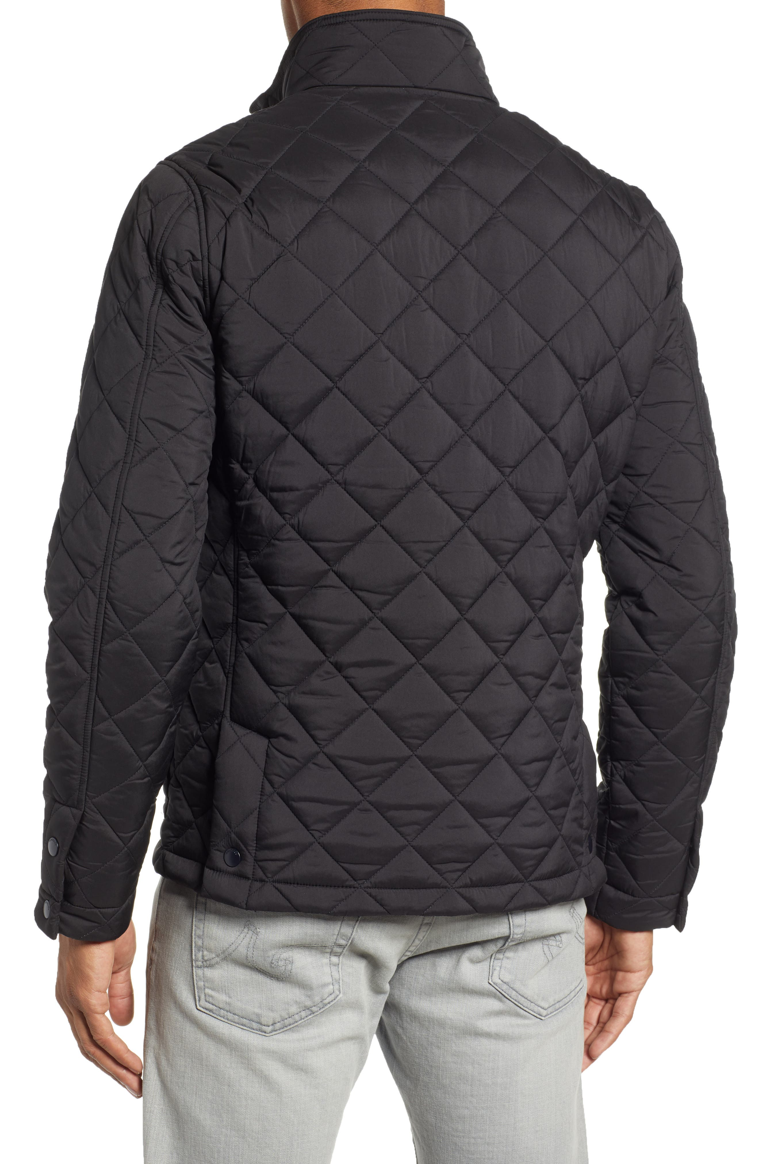 Banff Quilted Jacket,                             Alternate thumbnail 2, color,                             BLACK
