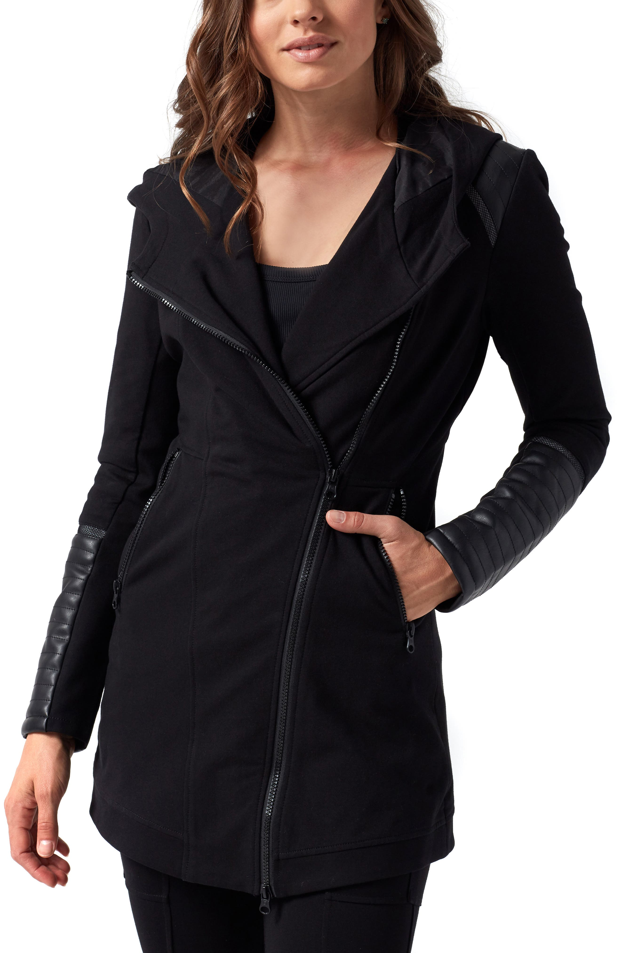 Traveller Mesh Inset Jacket,                         Main,                         color, BLACK