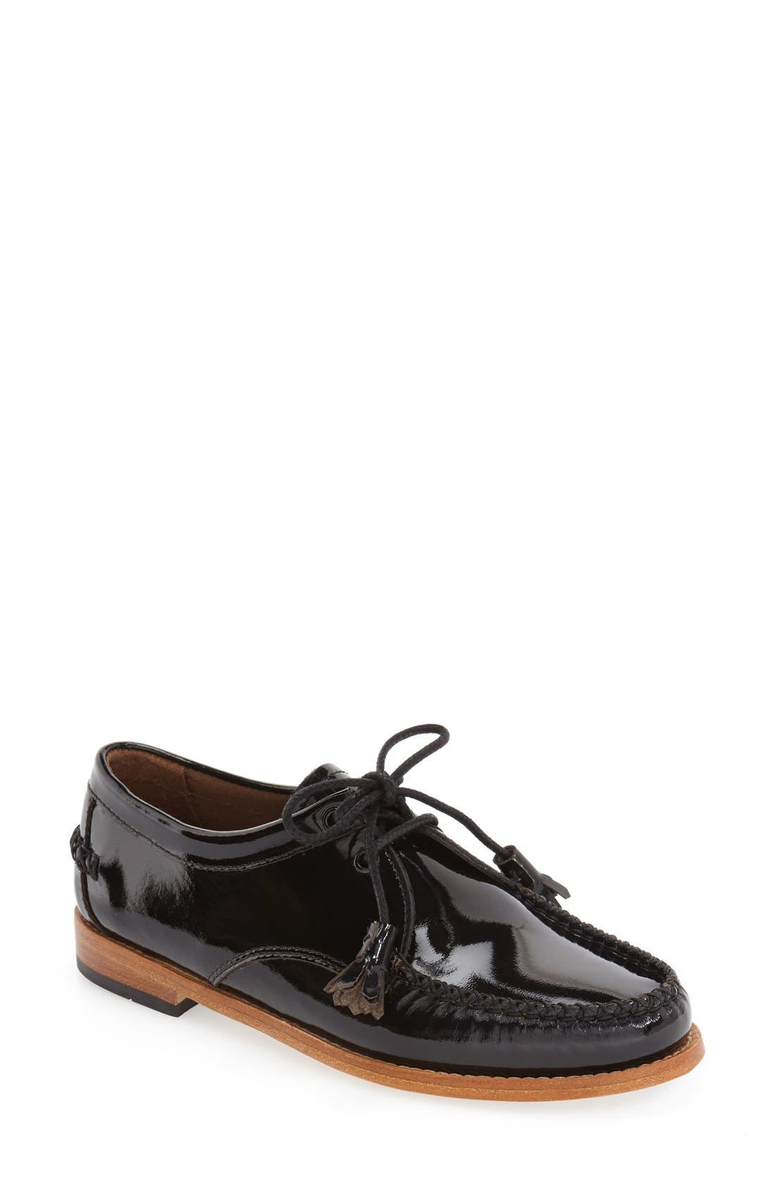 'Winnie' Leather Oxford,                             Main thumbnail 3, color,
