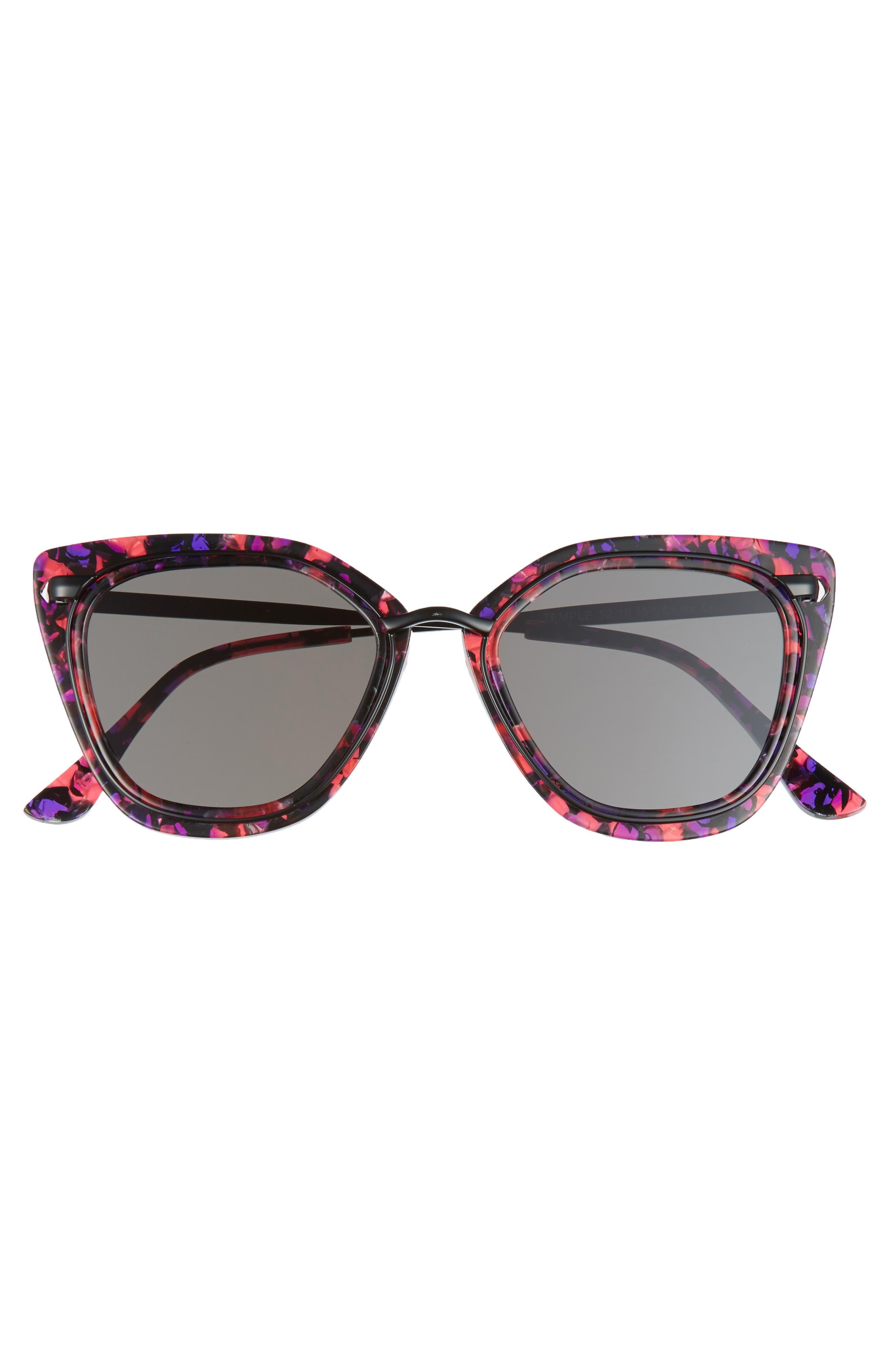 Temple 52mm Sunglasses,                             Alternate thumbnail 9, color,