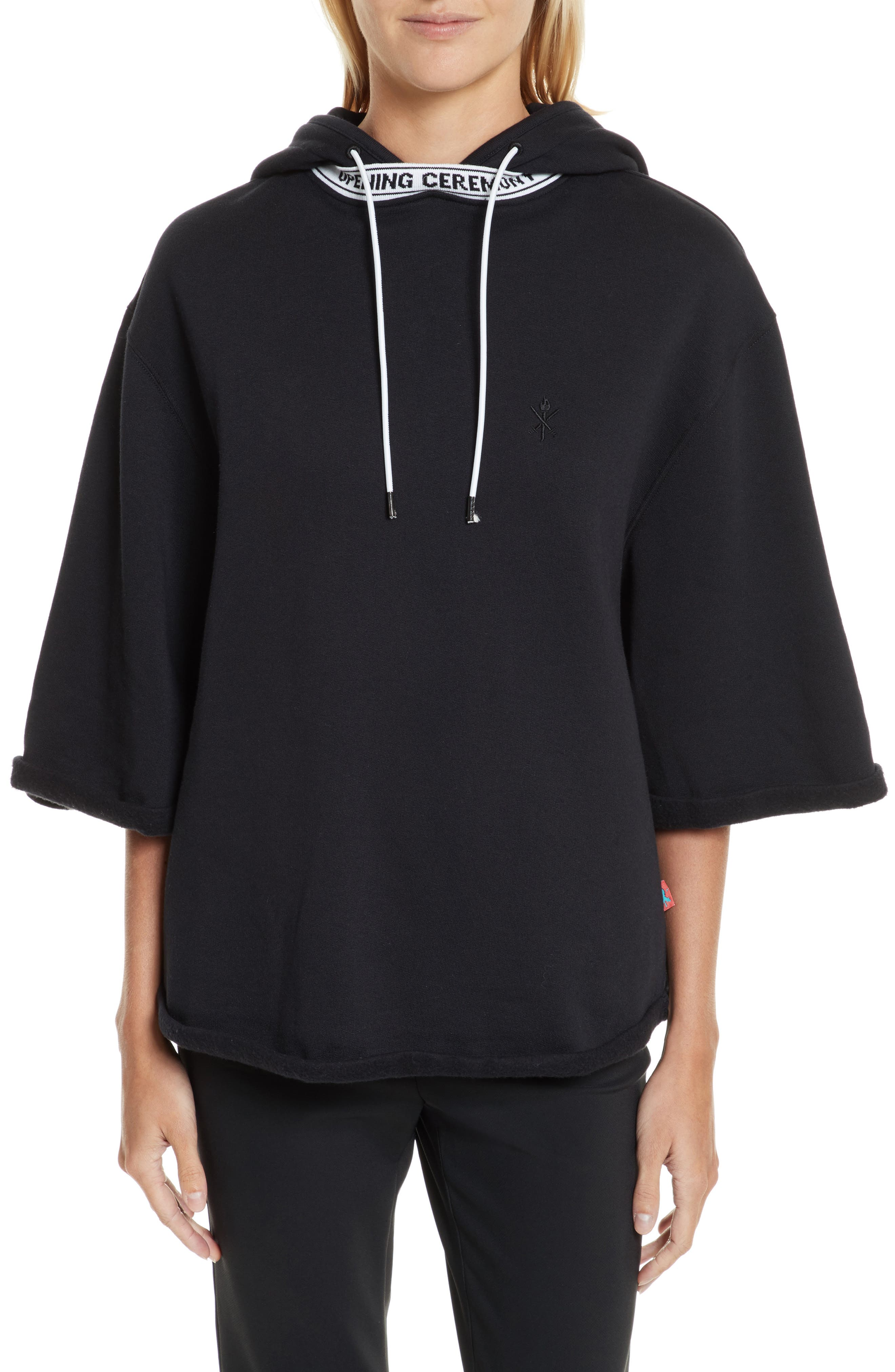Banded Hoodie,                         Main,                         color, 001