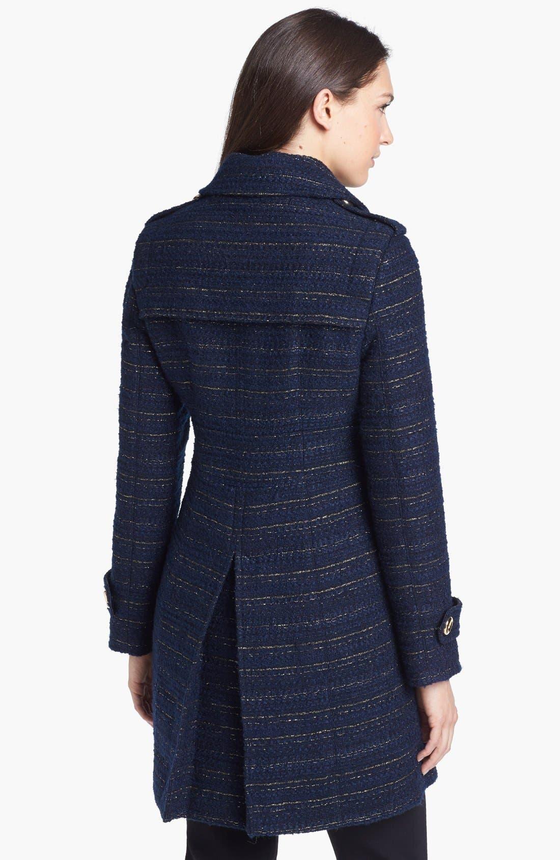 Metallic Tweed Walking Coat,                             Alternate thumbnail 6, color,