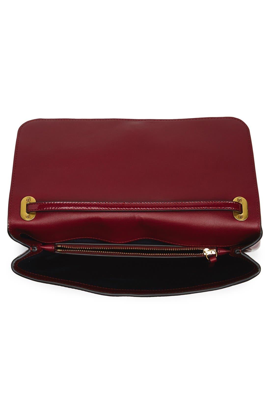 Patent Leather Convertible Shoulder Bag,                             Alternate thumbnail 3, color,                             606