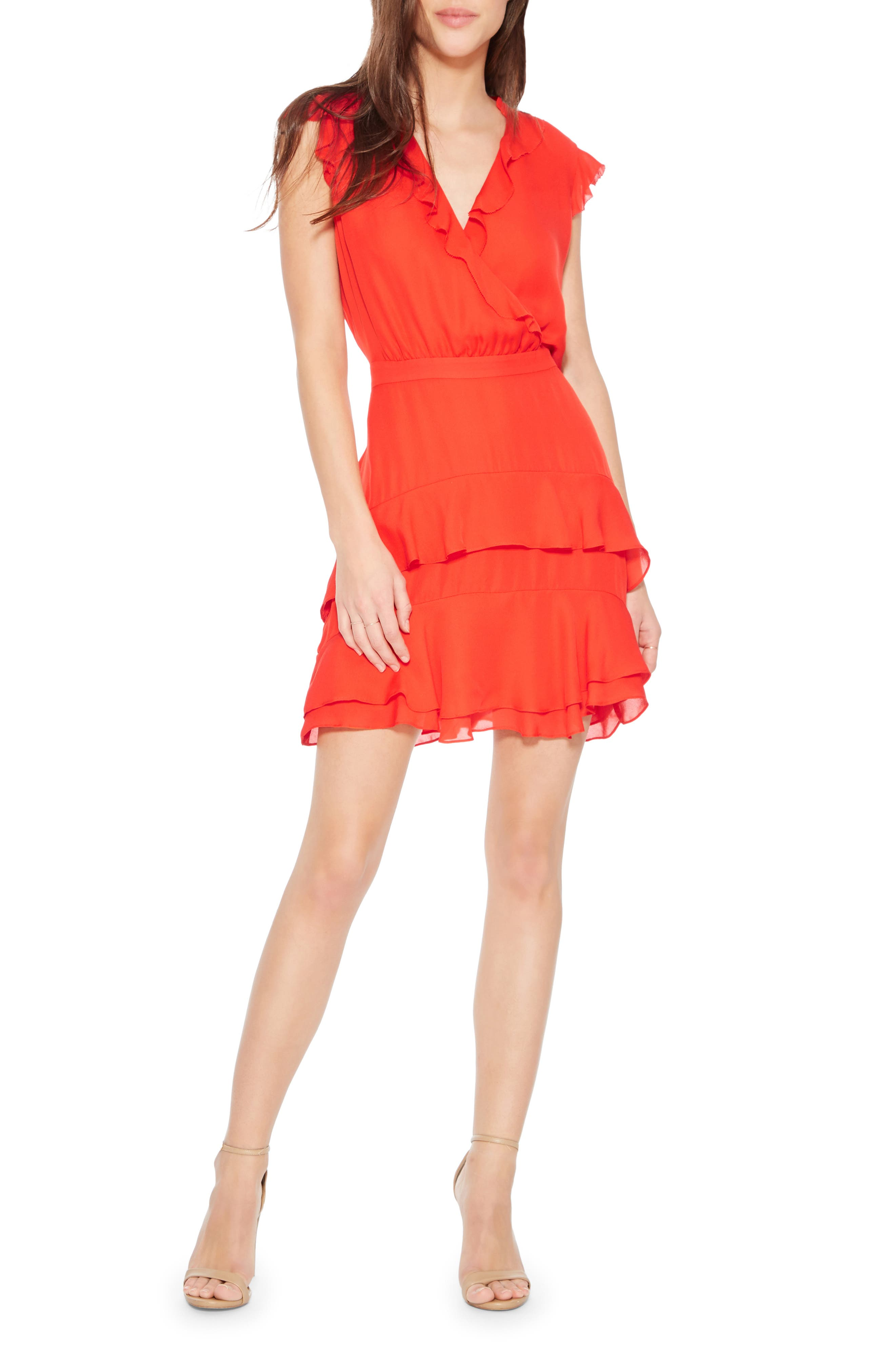 PARKER Tangia Silk Dress, Main, color, FLARE