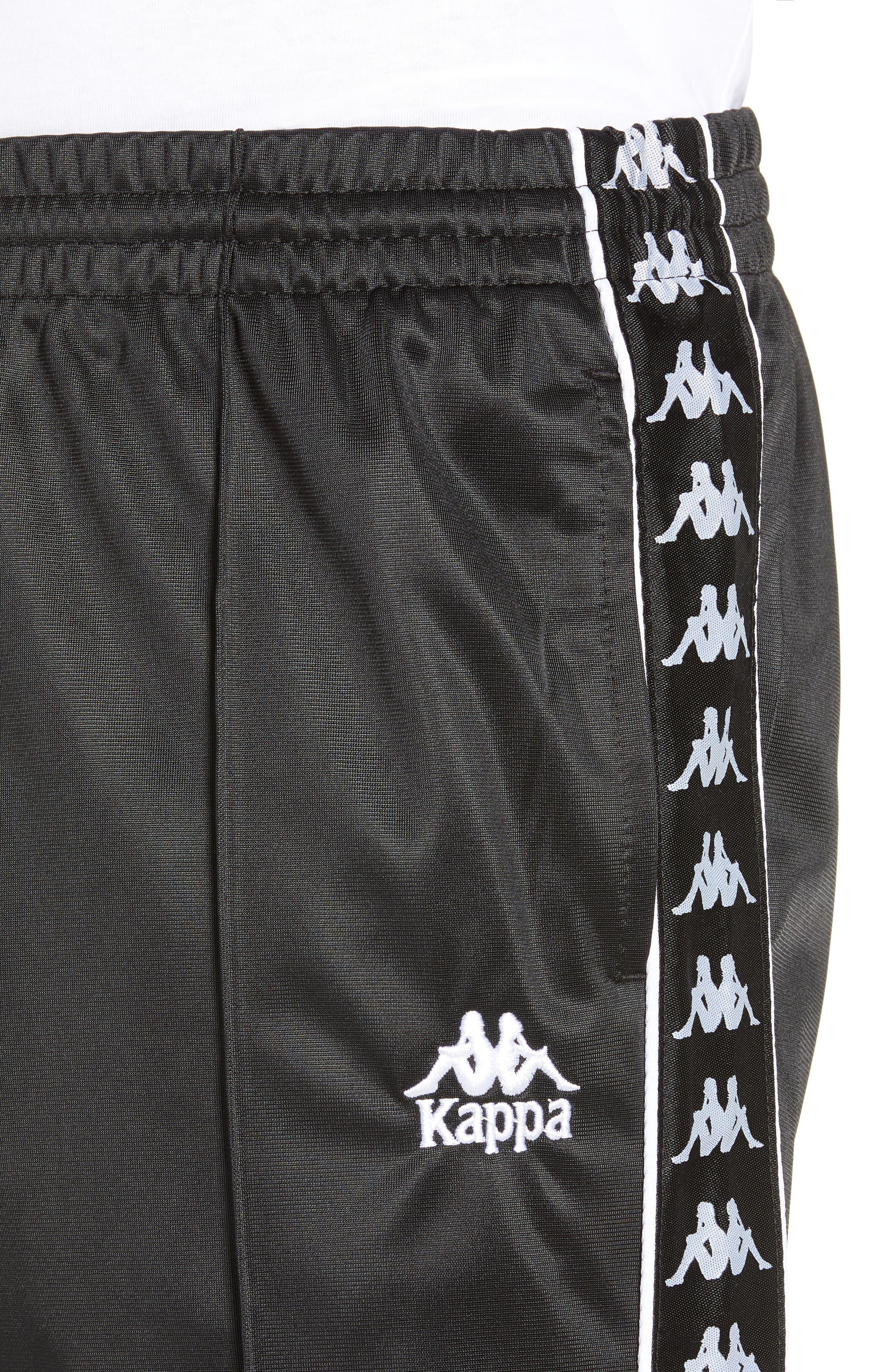 Authentic Fairfax Side Stripe Slim Track Pants,                             Alternate thumbnail 4, color,                             BLACK/ WHITE