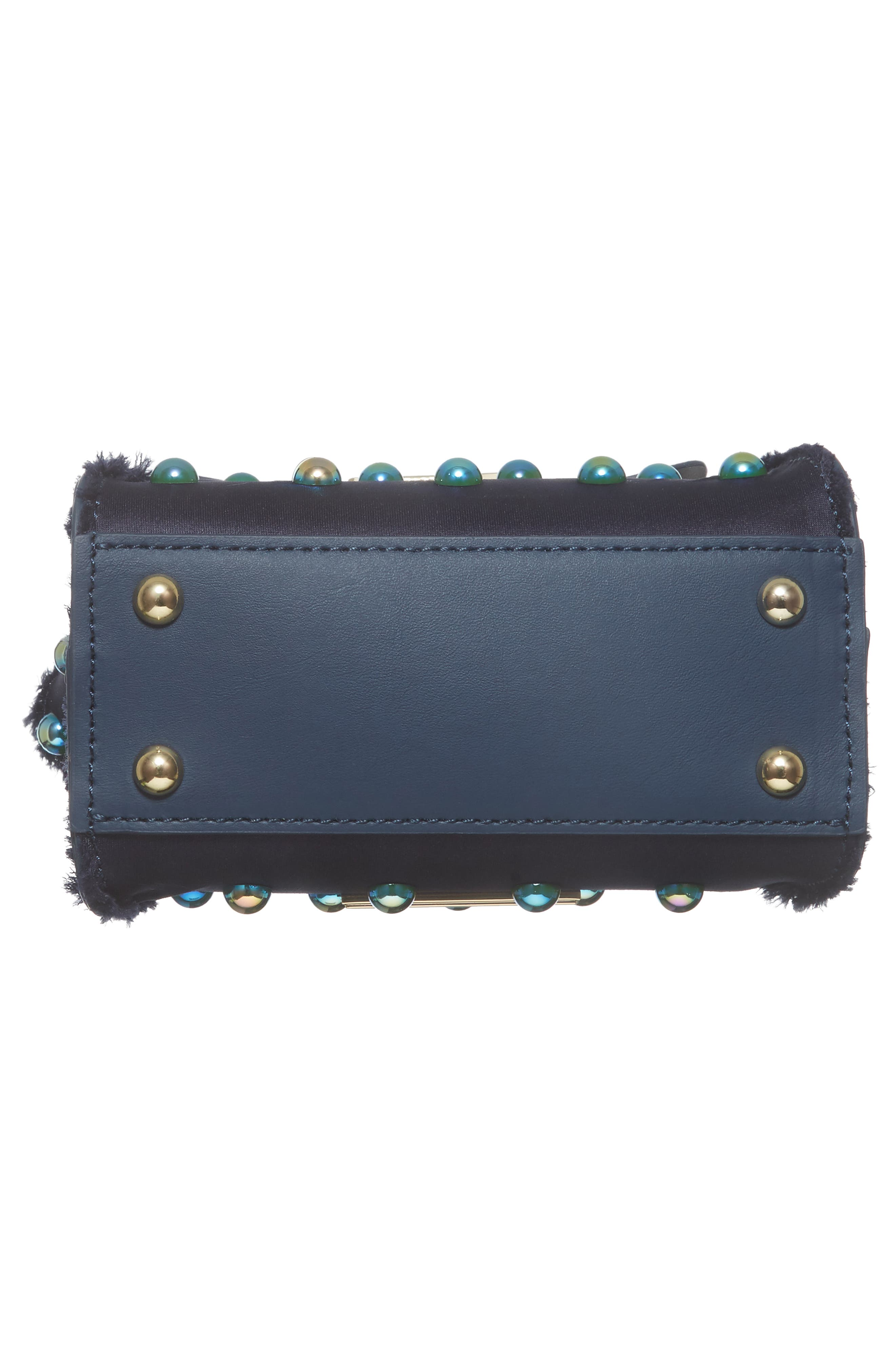 Mini Eartha Embellished Top Handle Calfskin Leather Satchel,                             Alternate thumbnail 6, color,                             403