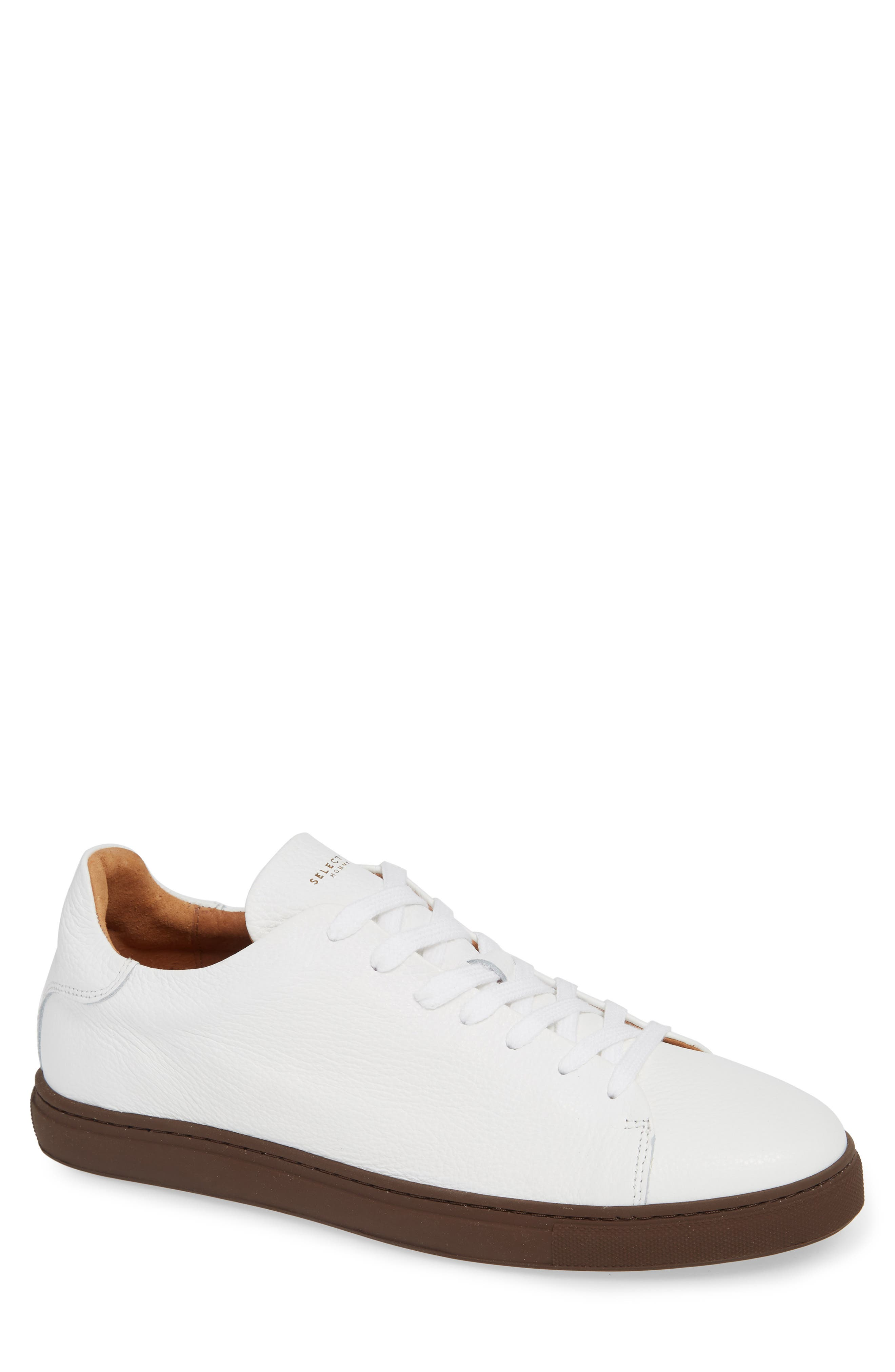 David Sneaker,                             Main thumbnail 1, color,                             WHITE/ BURGUNDY SOLE