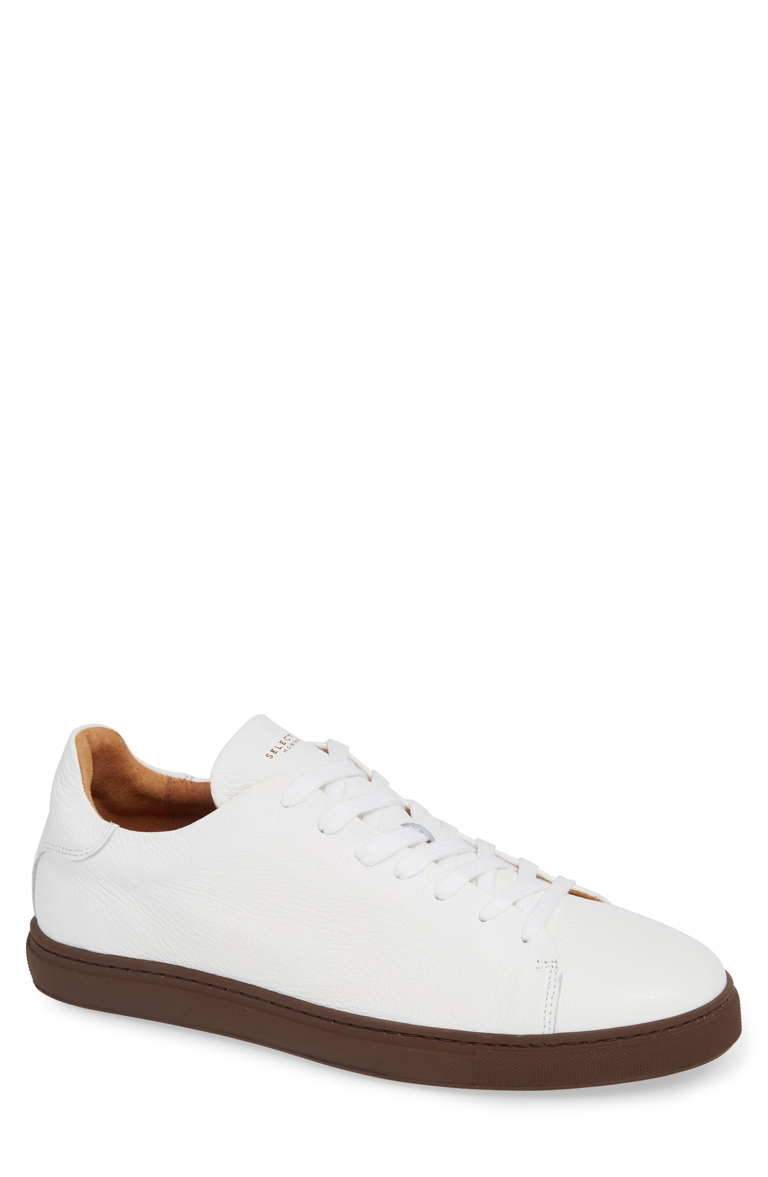 David Sneaker,                         Main,                         color, WHITE/ BURGUNDY SOLE