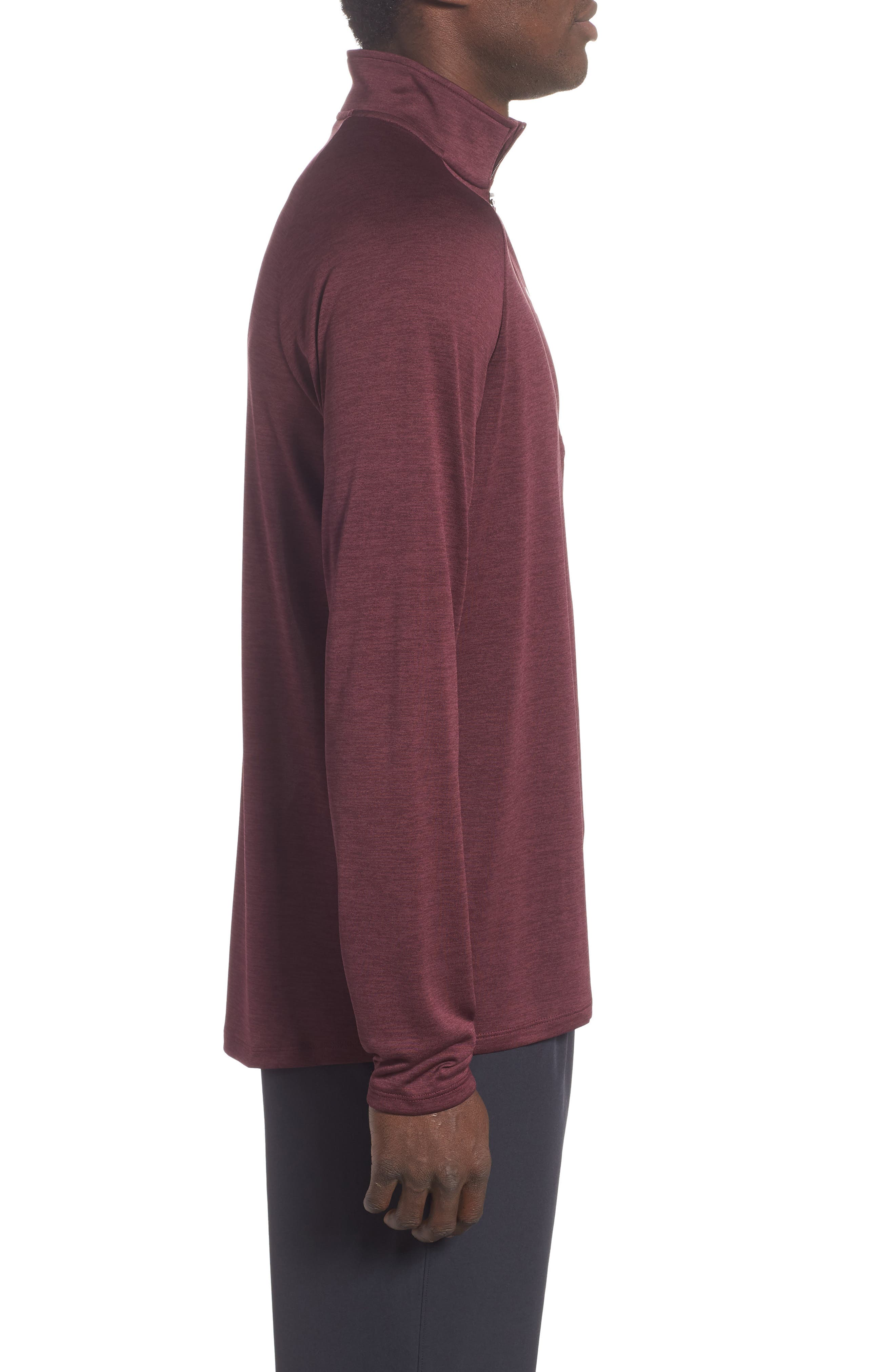 UNDER ARMOUR,                             Tech Half Zip Sweatshirt,                             Alternate thumbnail 3, color,                             600