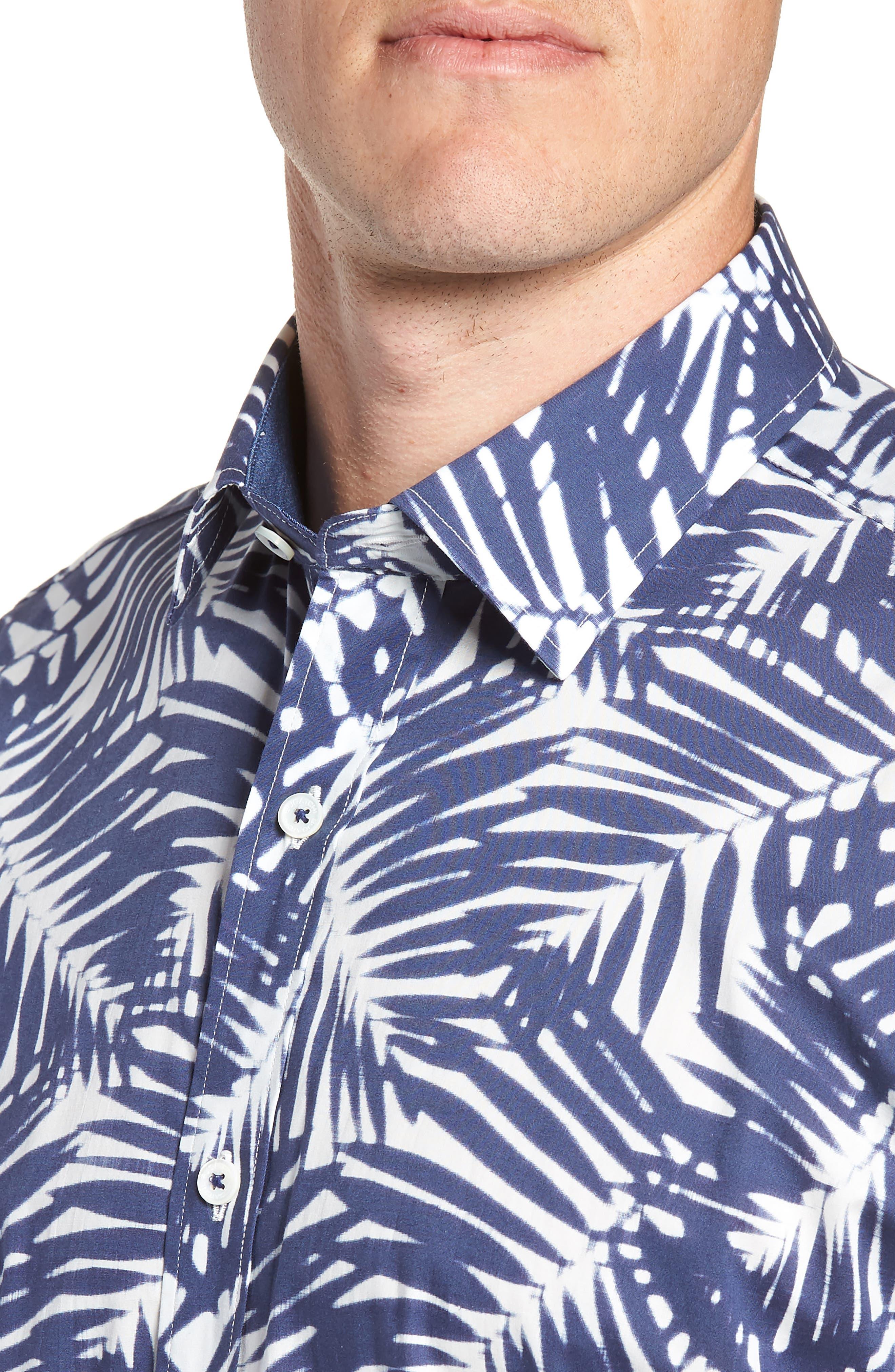Indigo Palms Classic Fit Sport Shirt,                             Alternate thumbnail 2, color,                             NAVY