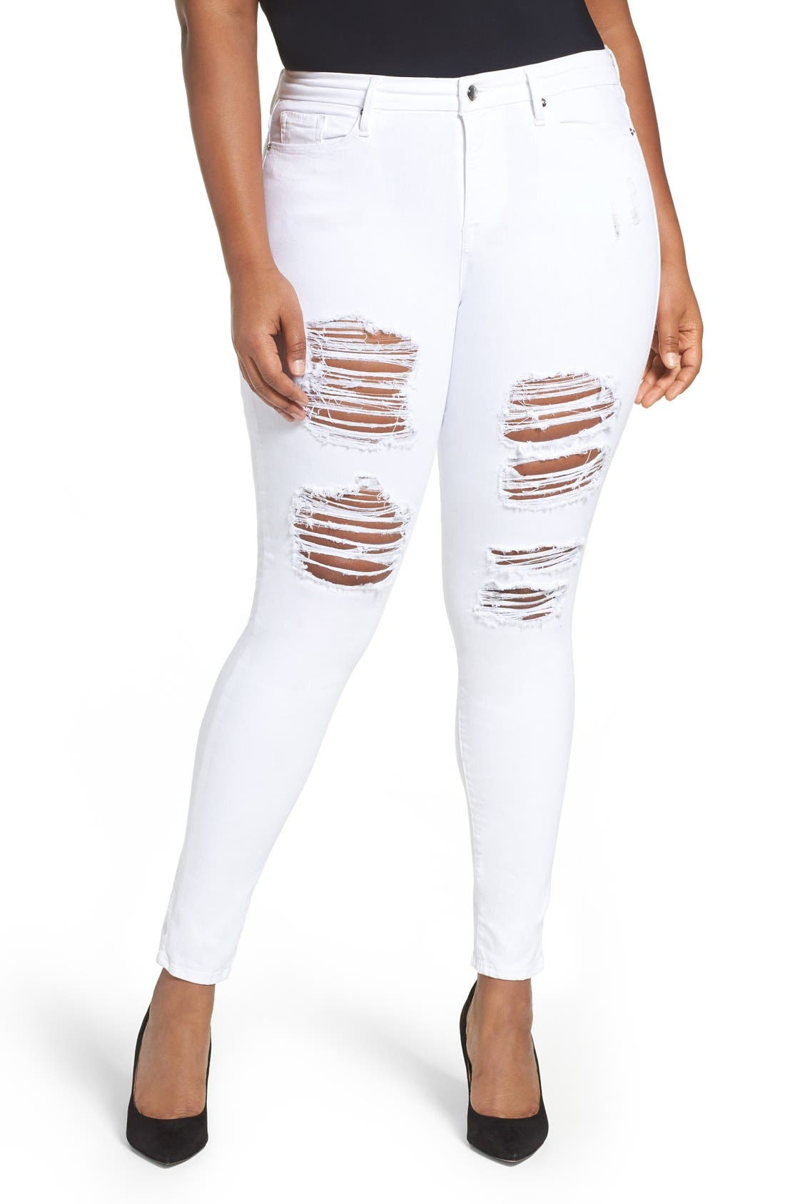 Good Legs High Rise Ripped Skinny Jeans,                             Main thumbnail 2, color,