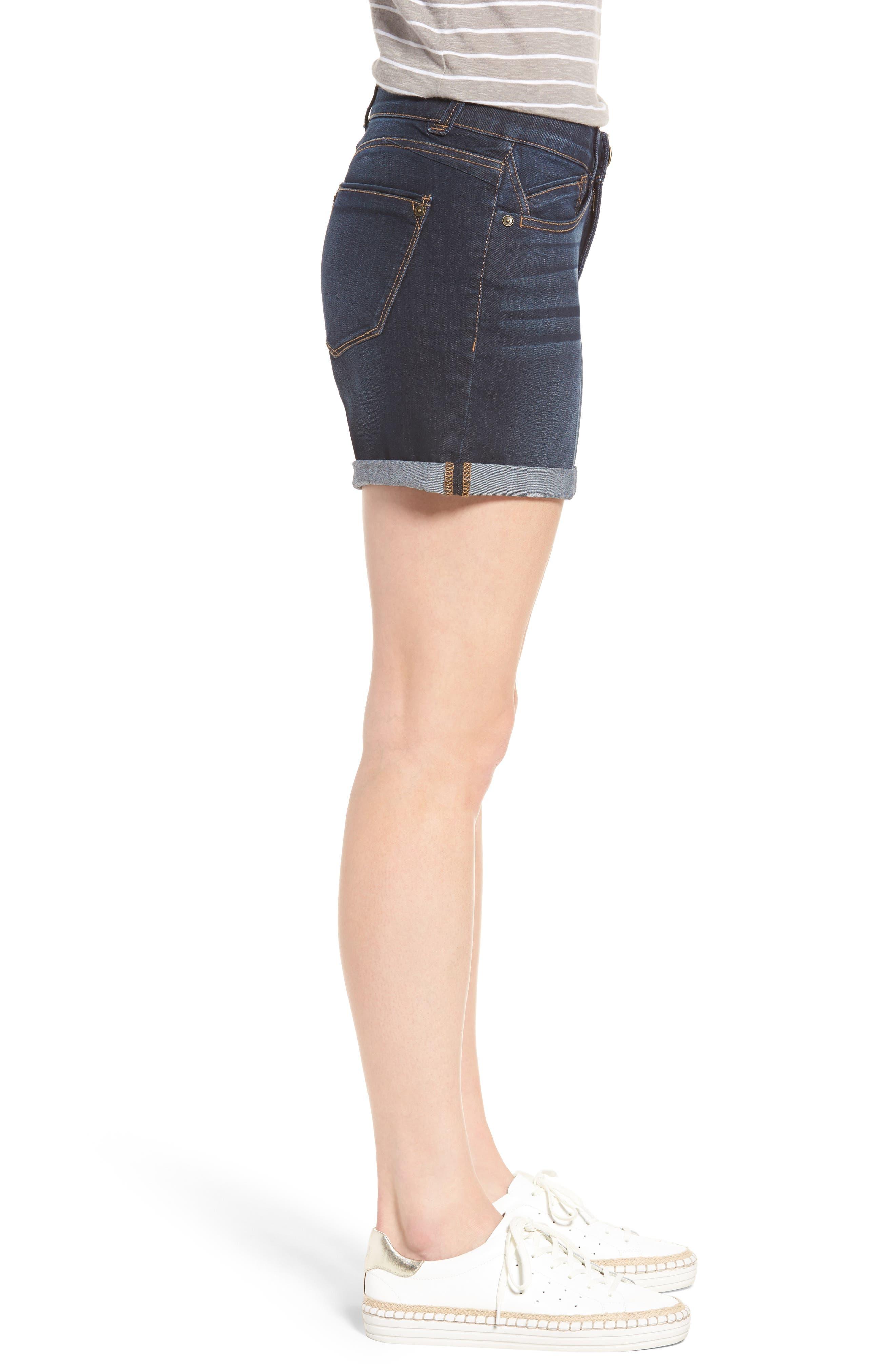 Ab-solution Cuffed Denim Shorts,                             Alternate thumbnail 3, color,                             402