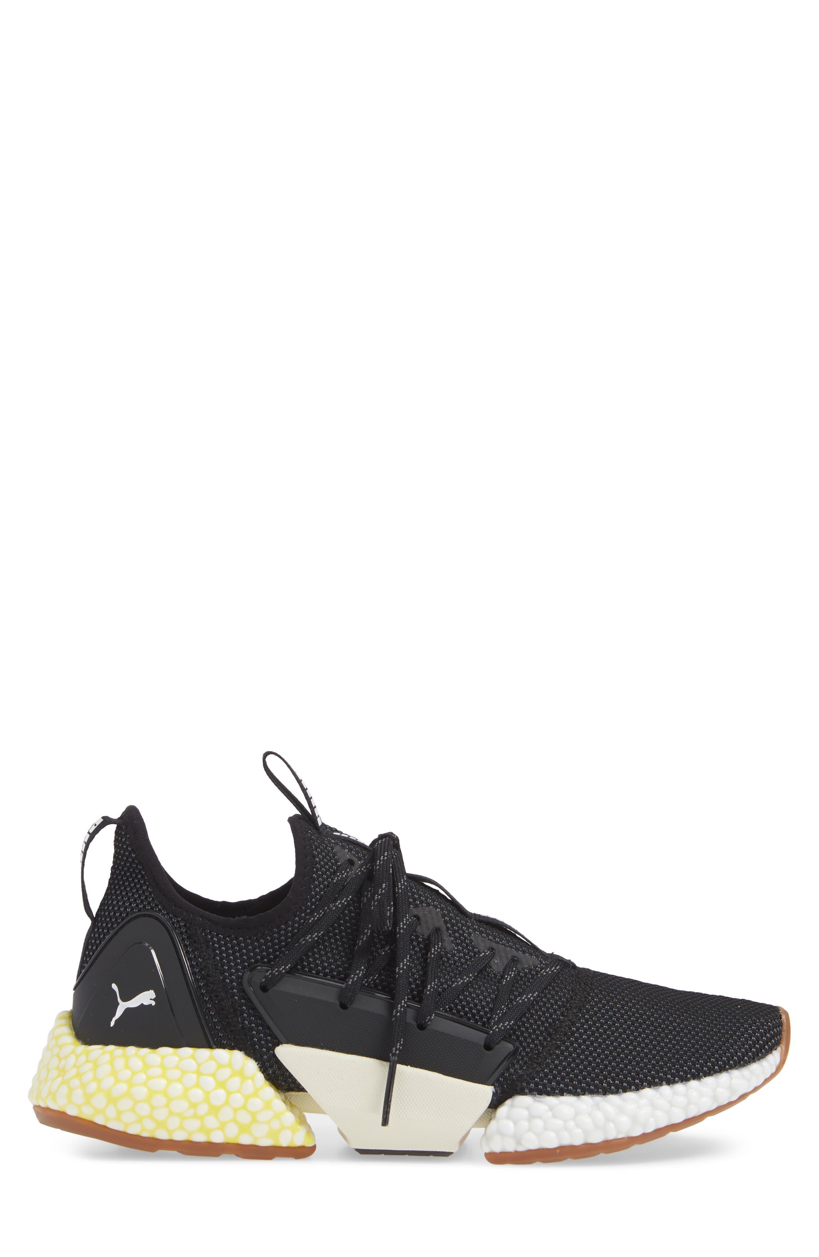 Hybrid Rocket Runner Sneaker,                             Alternate thumbnail 3, color,                             BLACK/ WHITE/ BLAZING YELLOW