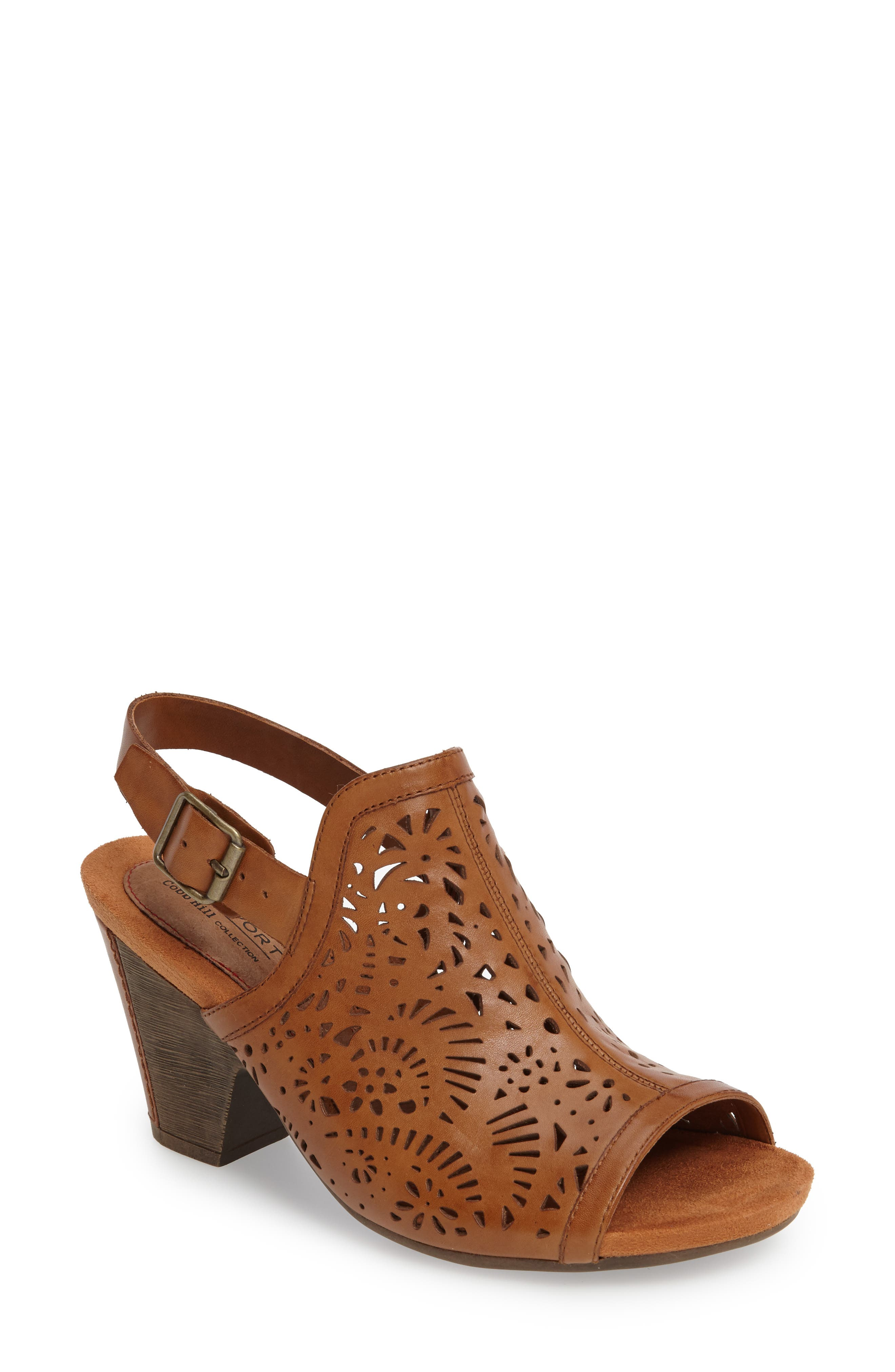 Tropez Block Heel Sandal,                             Main thumbnail 3, color,