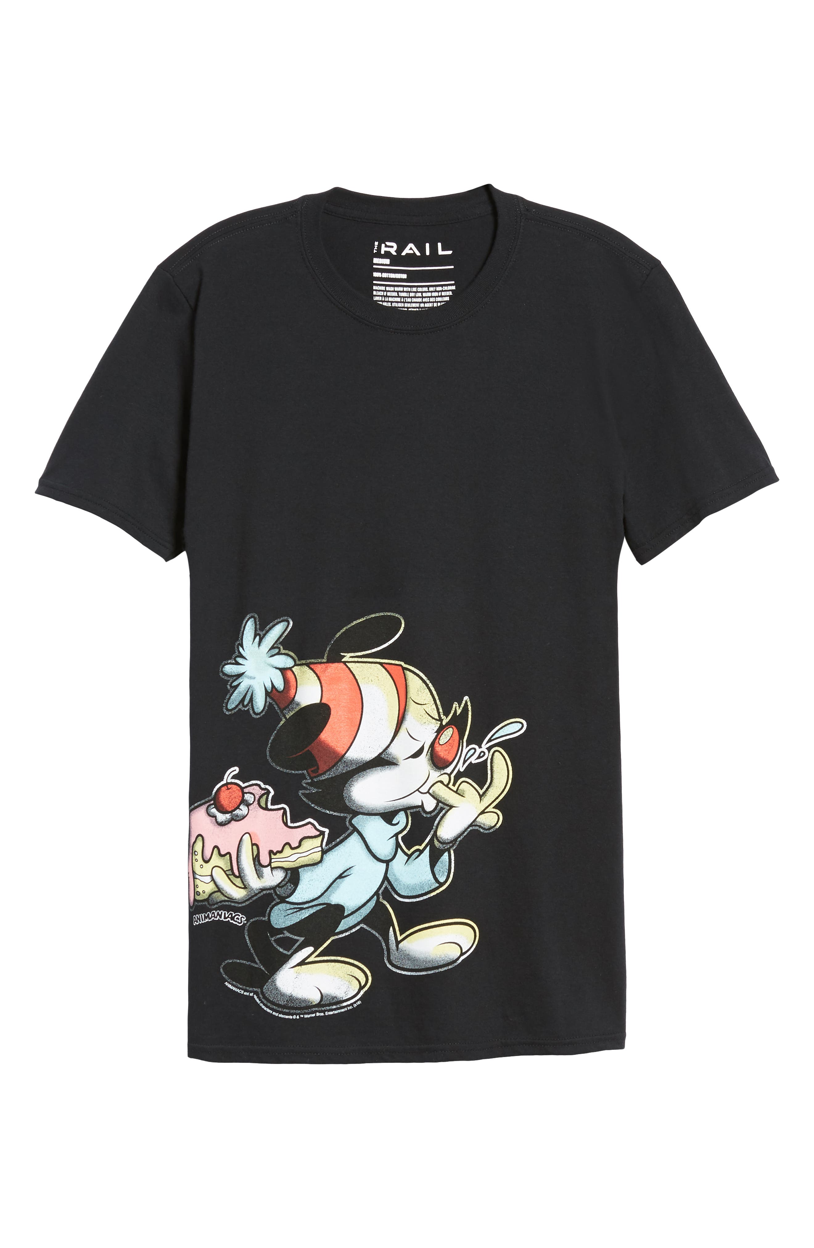 Animaniacs Cake Graphic T-Shirt,                             Alternate thumbnail 6, color,                             001
