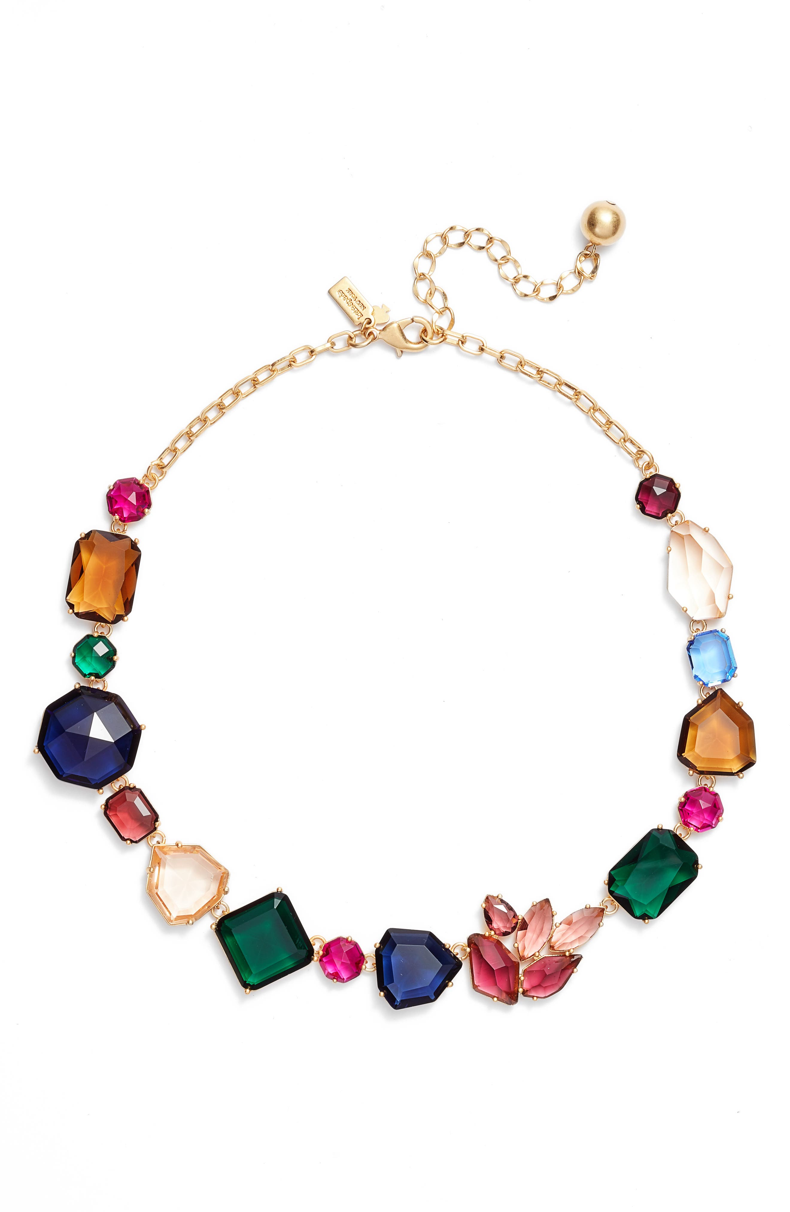 mix stone necklace,                             Main thumbnail 1, color,                             GOLD MULTI