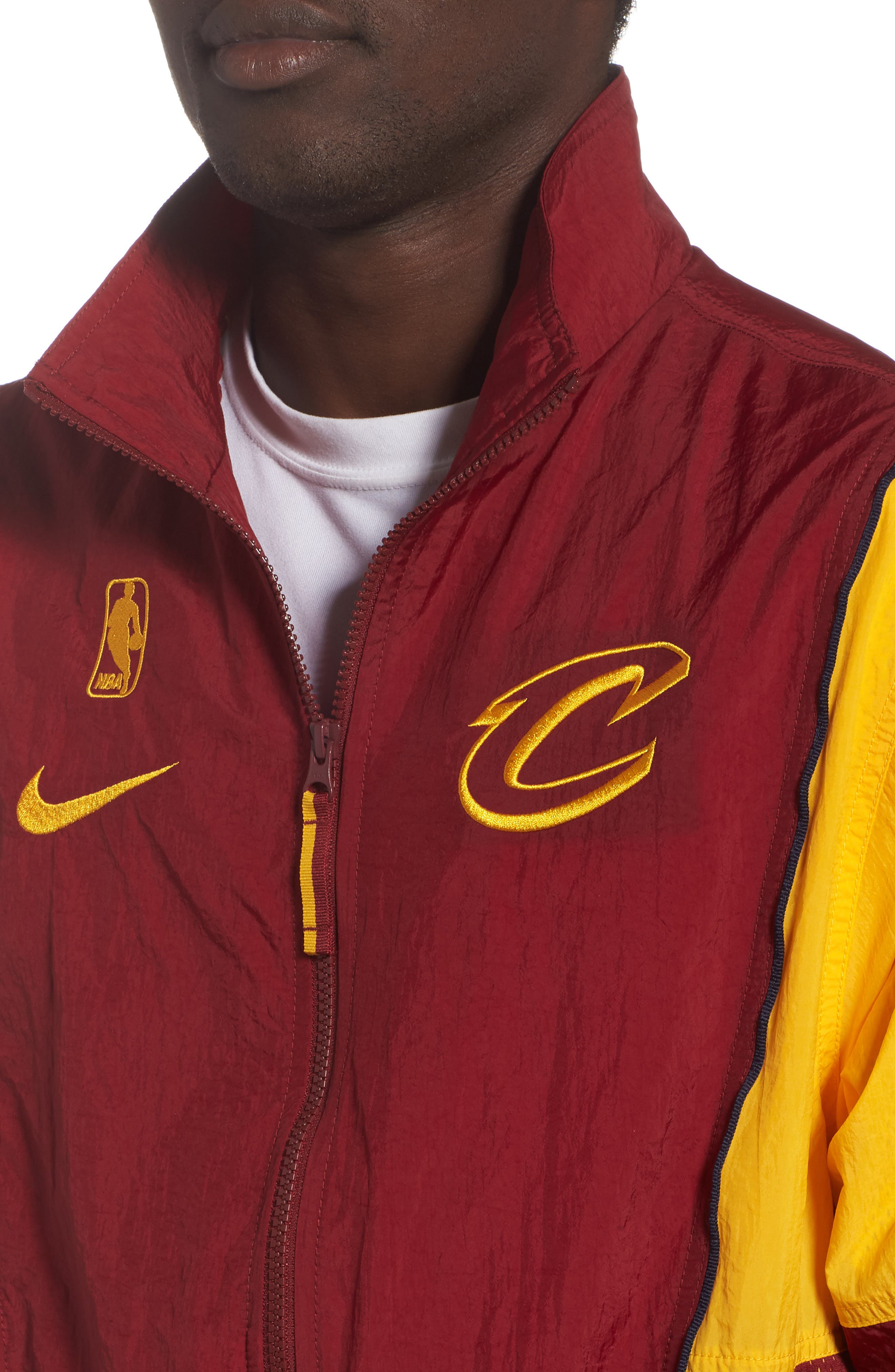 Cleveland Cavaliers Track Jacket,                             Alternate thumbnail 4, color,                             TEAM RED/ UNIVERSITY GOLD
