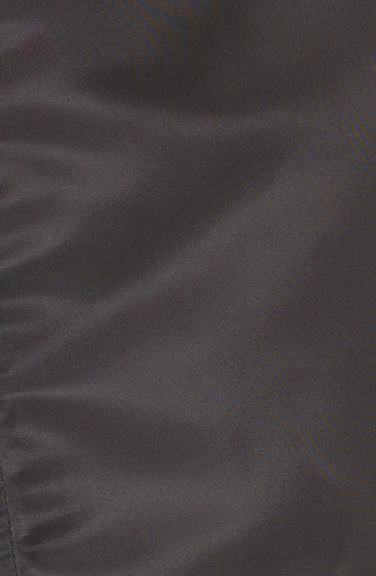 Mixed Media Bomber Jacket,                             Alternate thumbnail 6, color,                             001