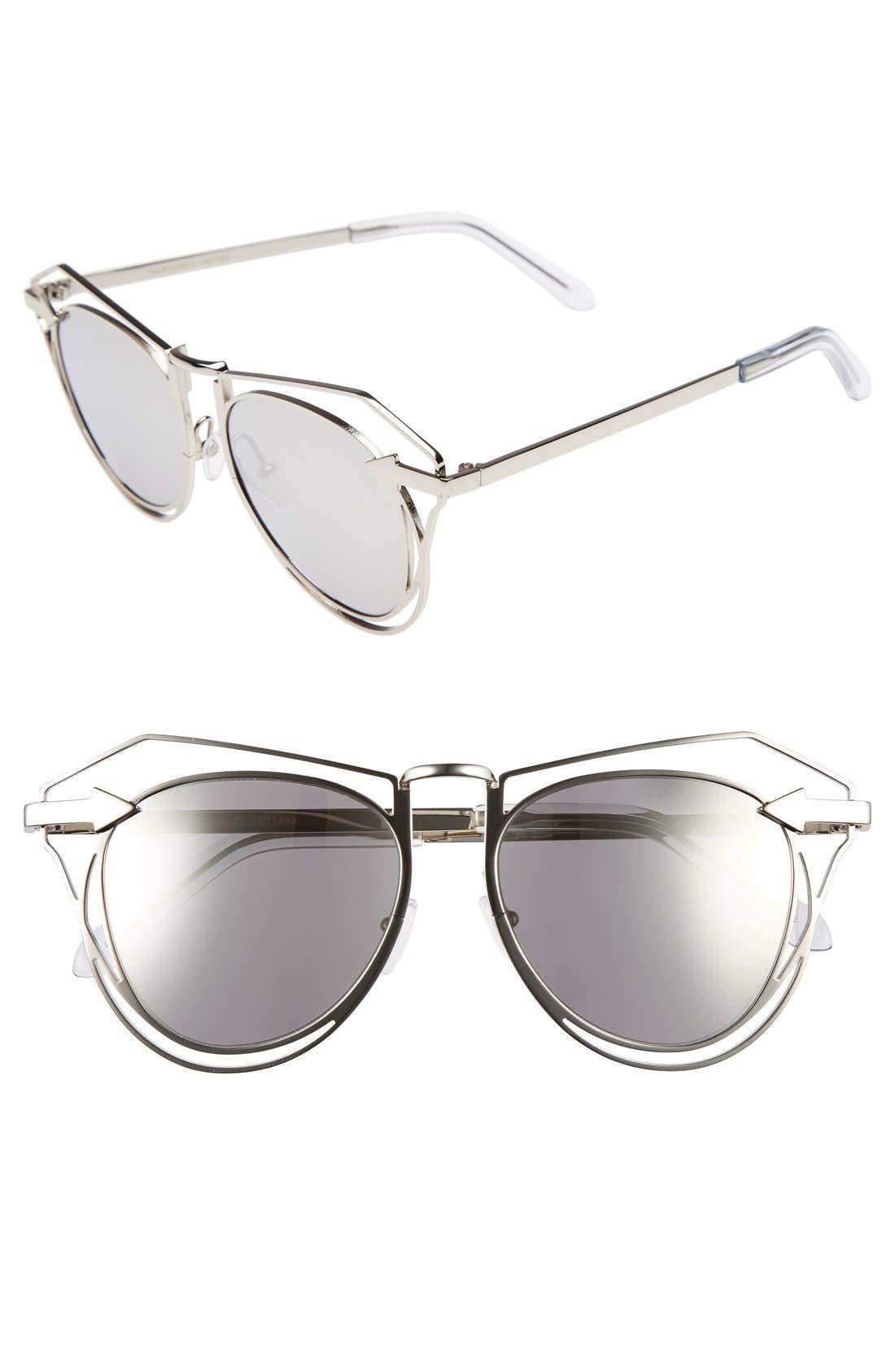 'Marguerite' 52mm Sunglasses,                             Main thumbnail 1, color,                             040