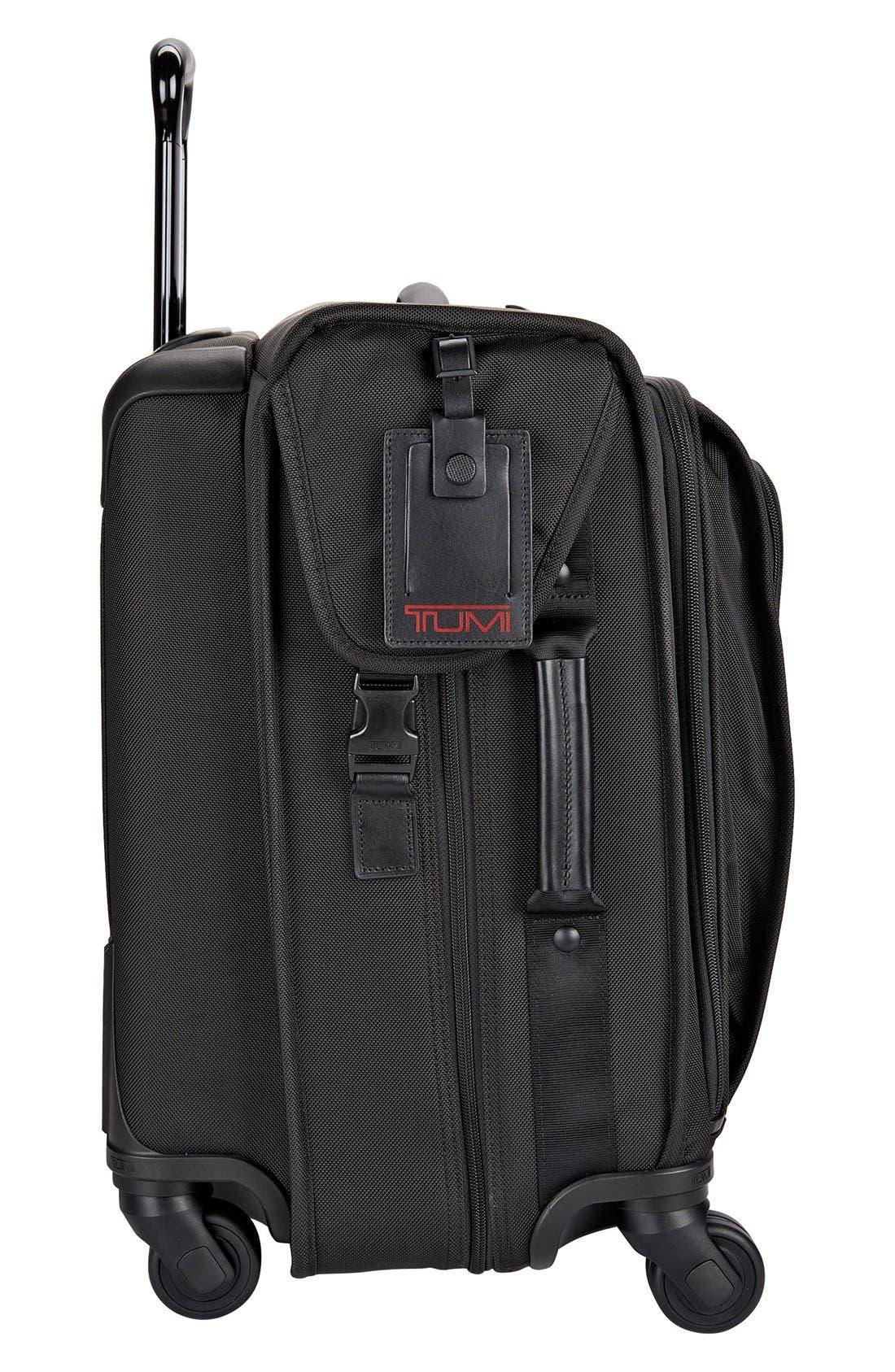 Alpha 2 Medium Trip Wheeled Garment Bag,                             Alternate thumbnail 6, color,                             BLACK
