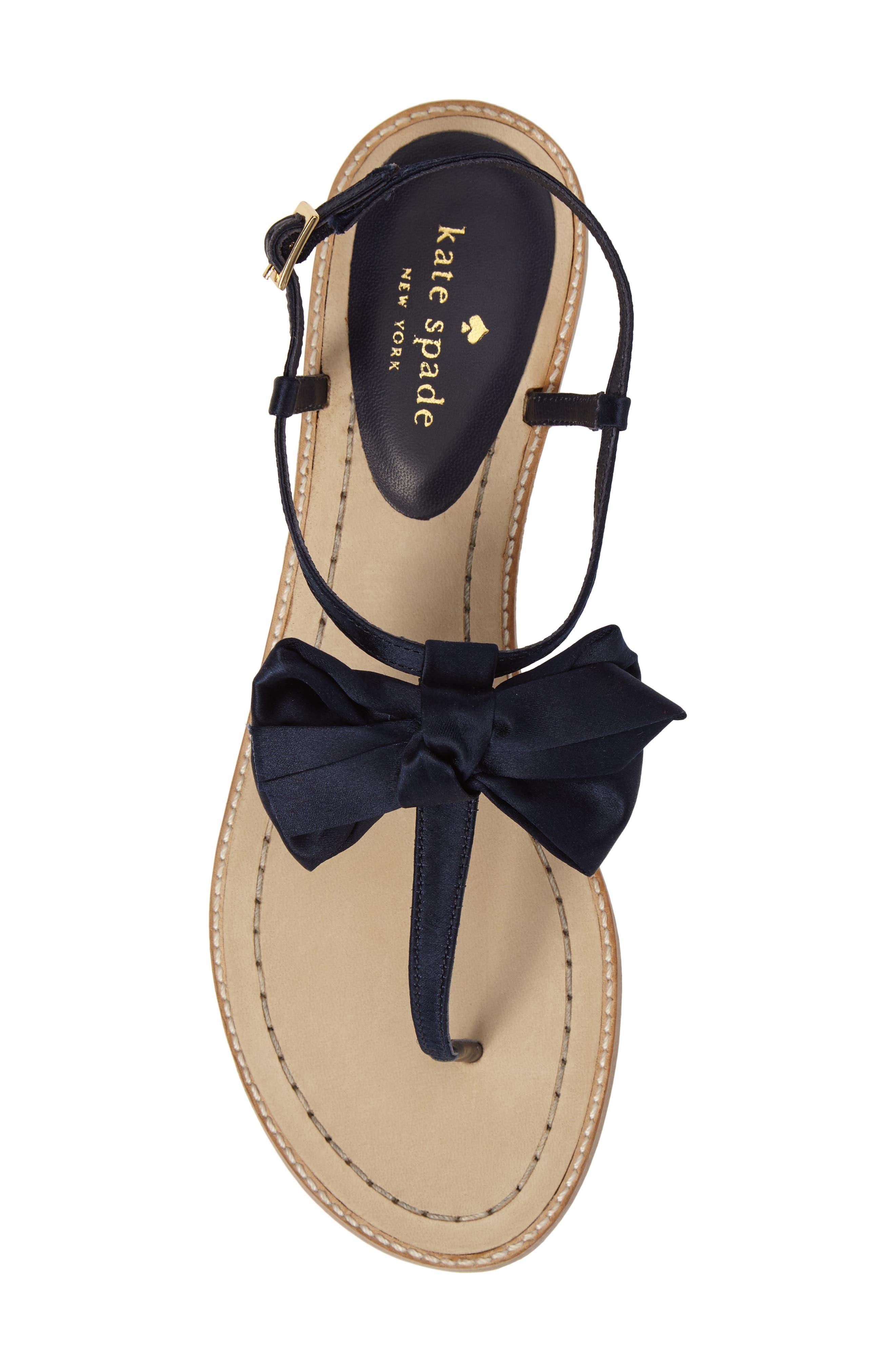 serrano bow sandal,                             Alternate thumbnail 18, color,