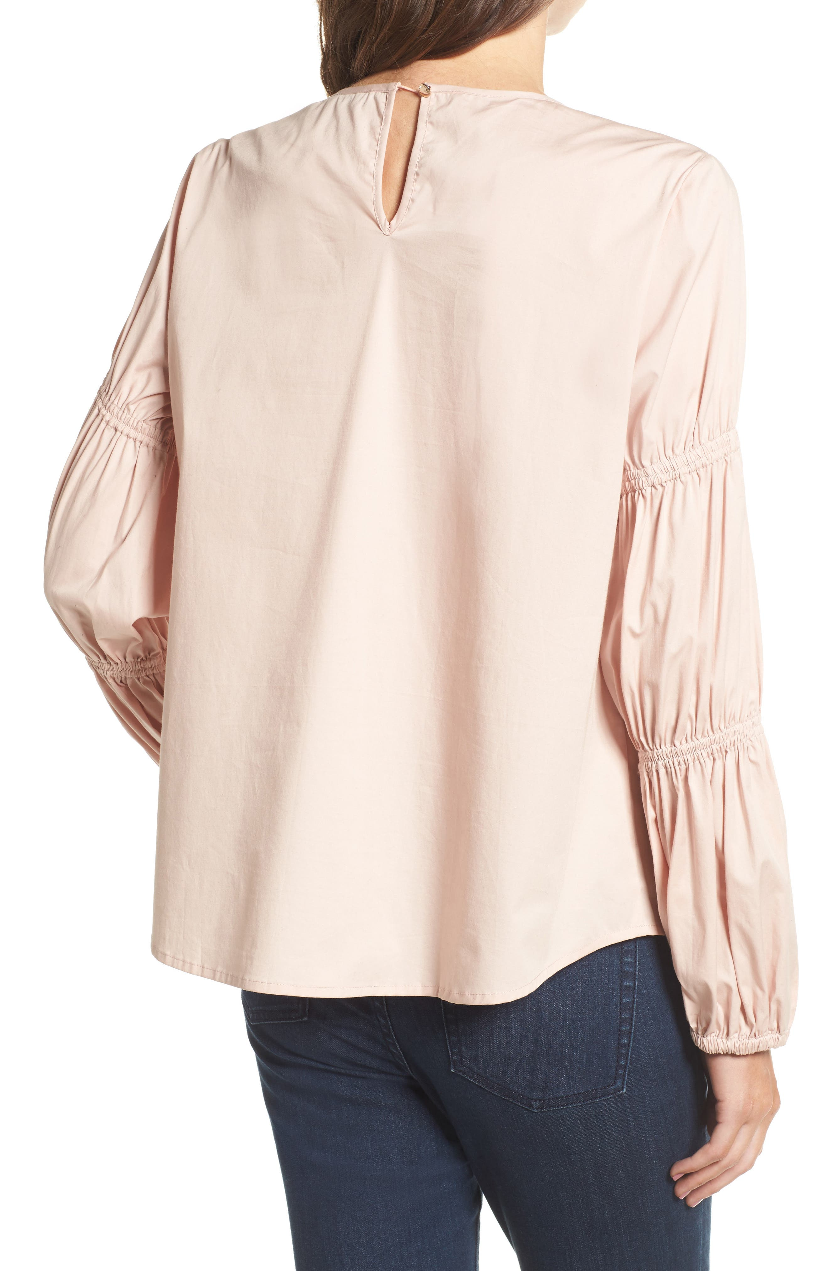Smocked Poplin Shirt,                             Alternate thumbnail 6, color,