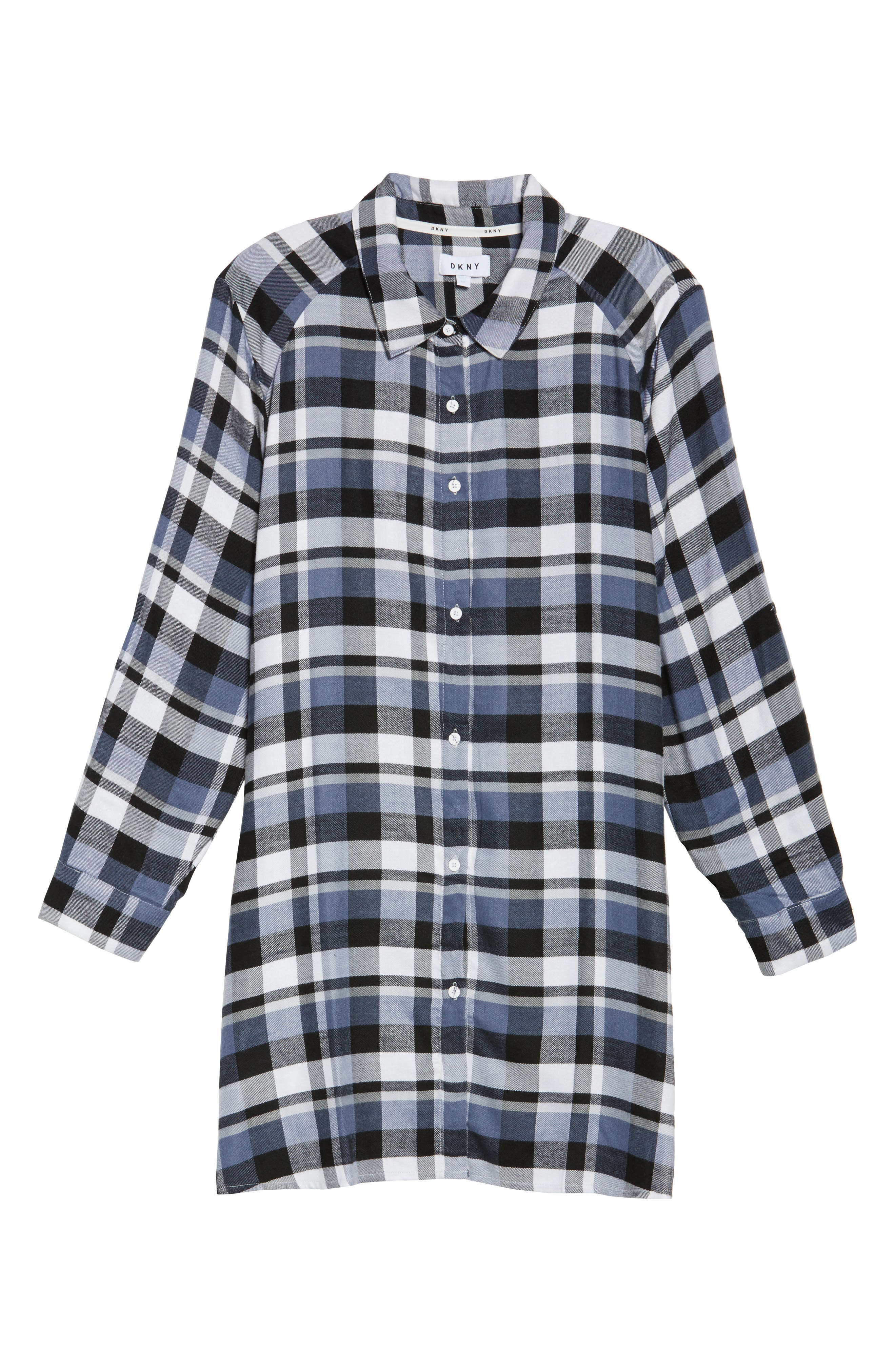 Plaid Sleep Shirt,                             Alternate thumbnail 6, color,                             400