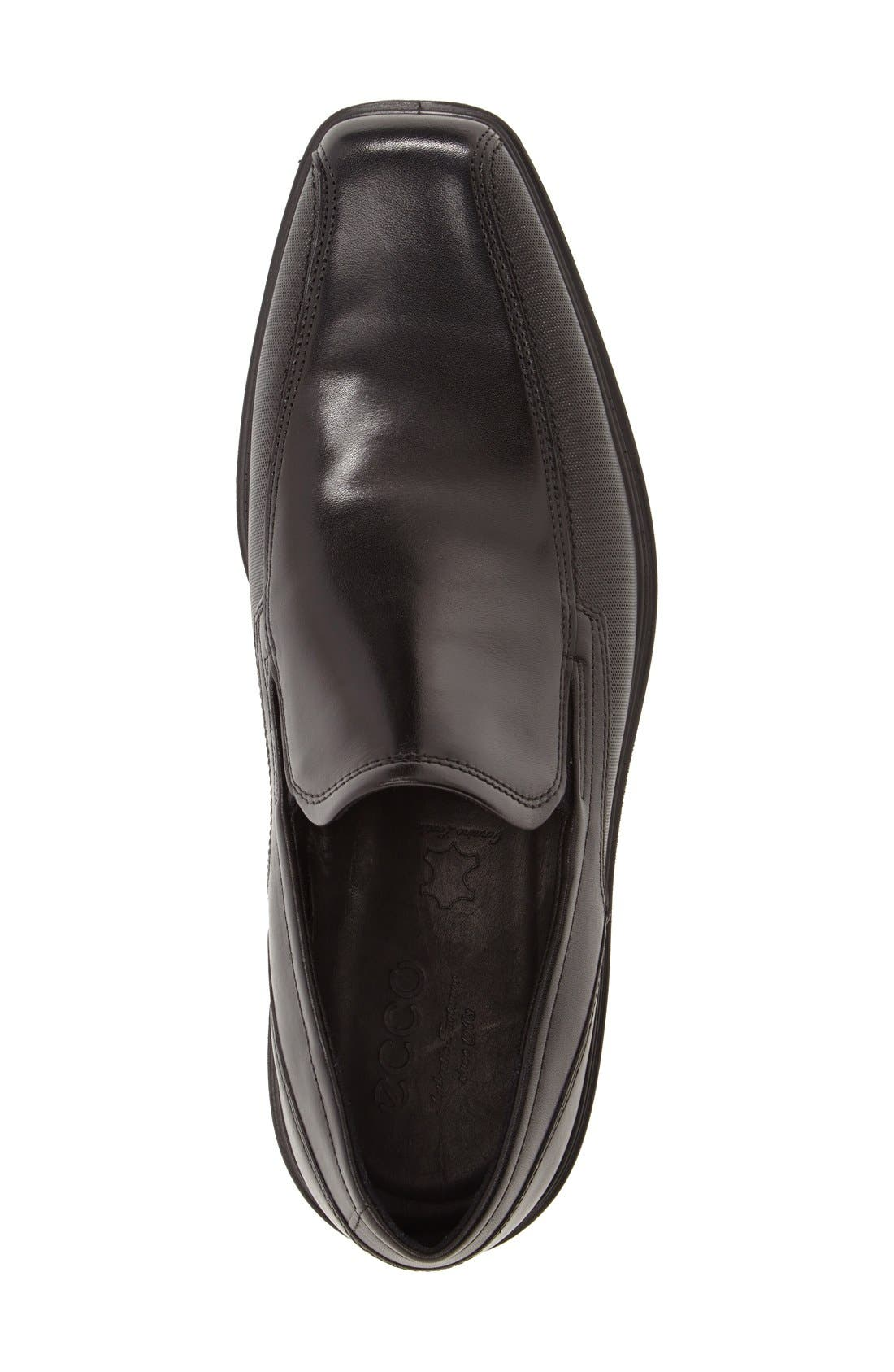 'Johannesburg' Venetian Loafer,                             Alternate thumbnail 3, color,                             BLACK LEATHER