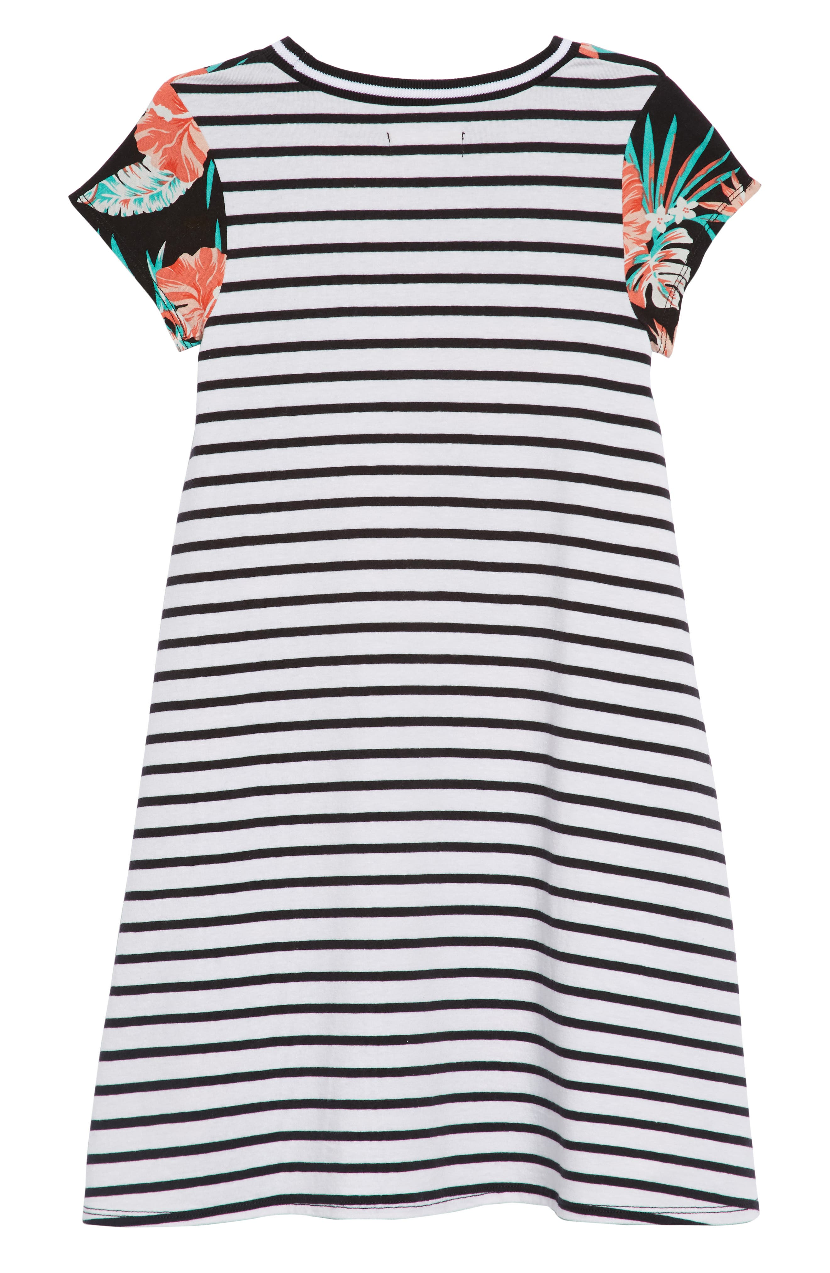 Tropical Stripe Shirtdress,                             Alternate thumbnail 2, color,                             001