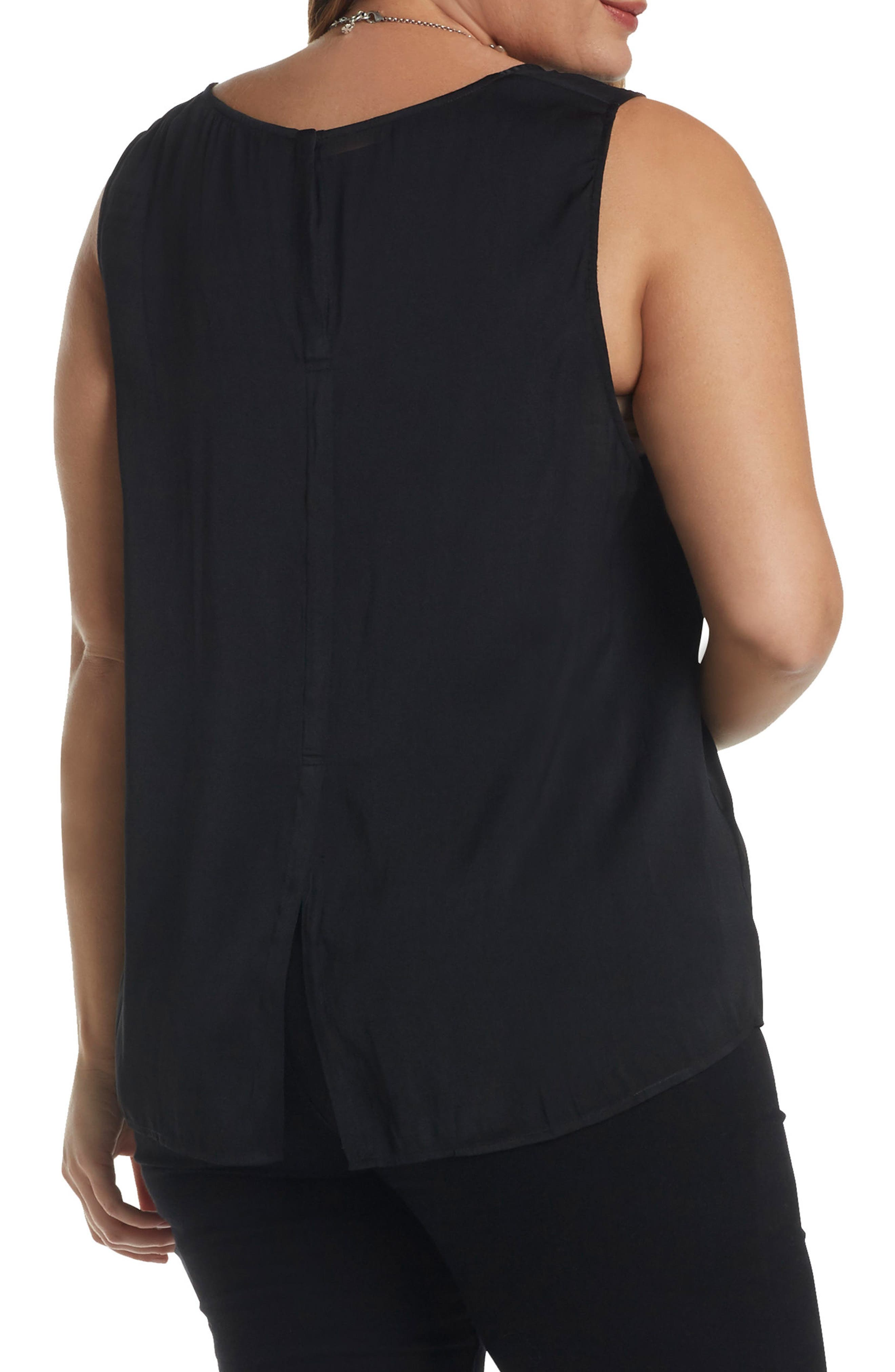 Angelle Sleeveless Top,                             Alternate thumbnail 2, color,                             001