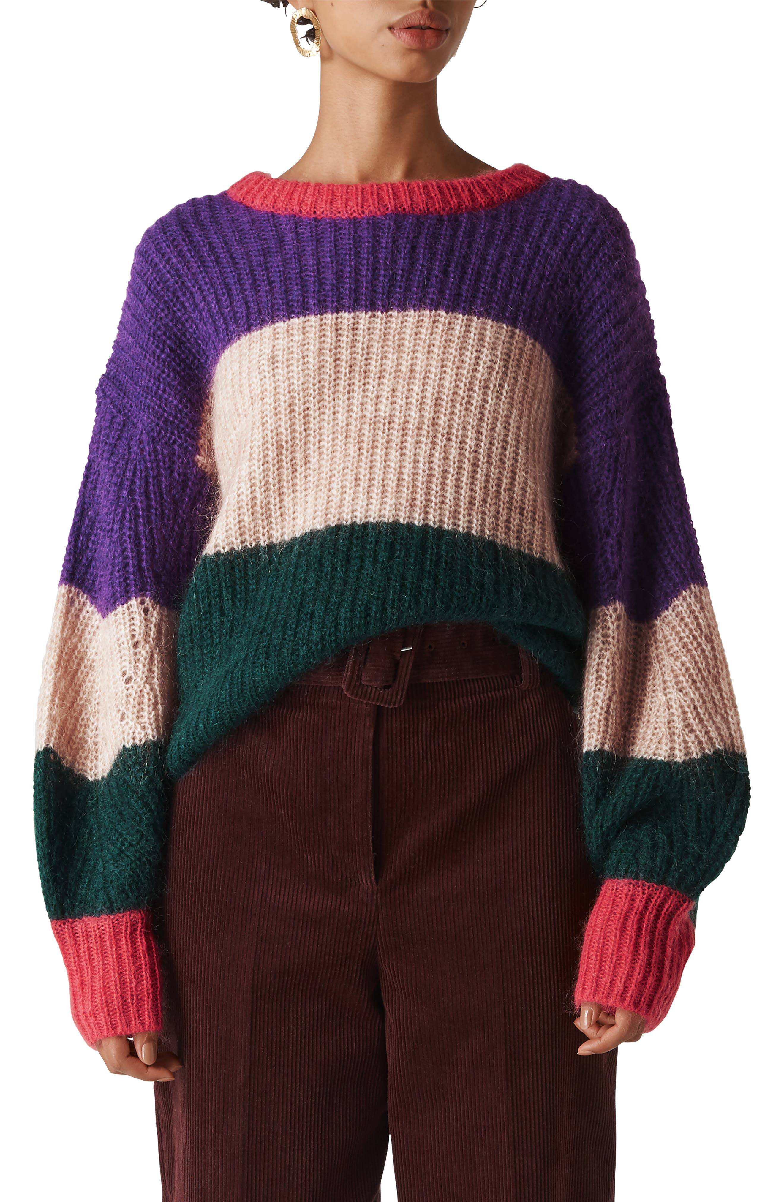 WHISTLES Sophia Striped Sweater in Multicolour