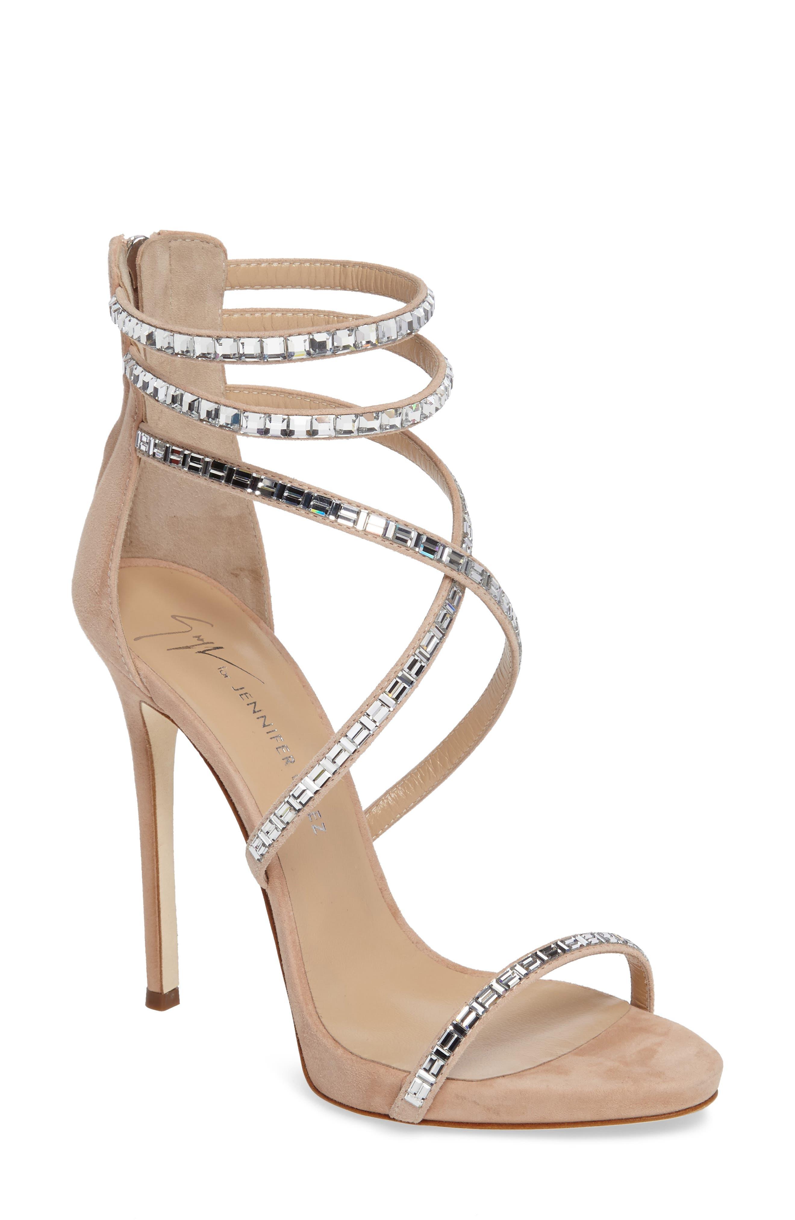 Giuseppe for Jennifer Lopez Strappy Sandal,                             Main thumbnail 2, color,