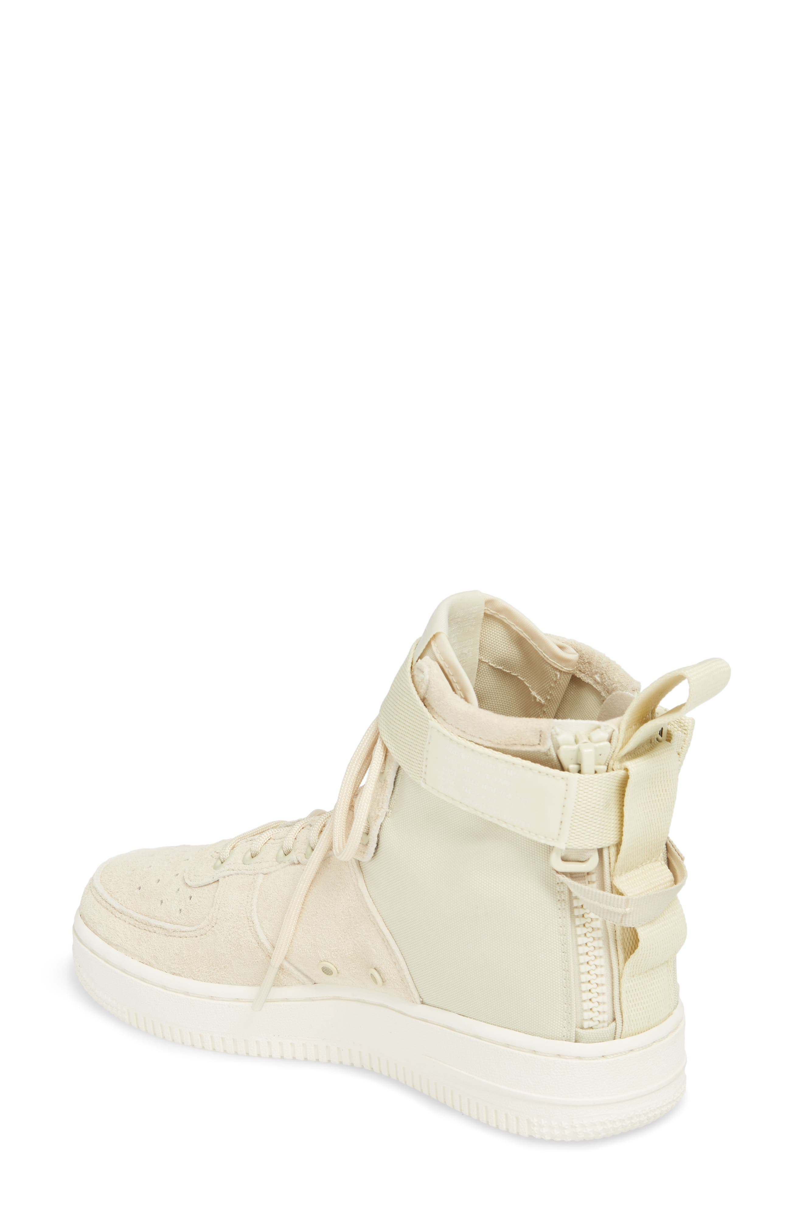 SF Air Force 1 Mid Sneaker,                             Alternate thumbnail 2, color,                             FOSSIL/ SAIL