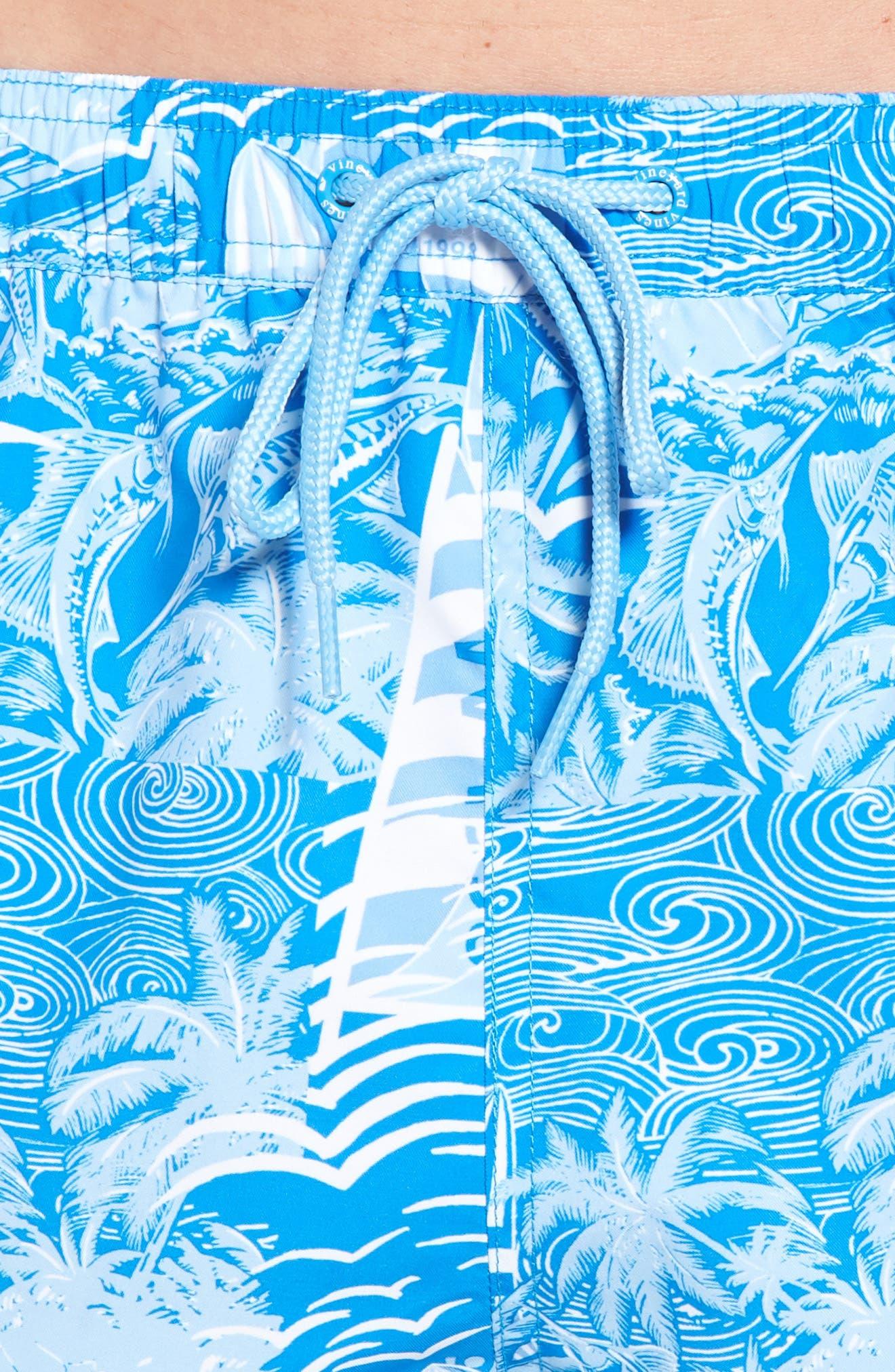 Chappy At Sea Swim Trunks,                             Alternate thumbnail 4, color,