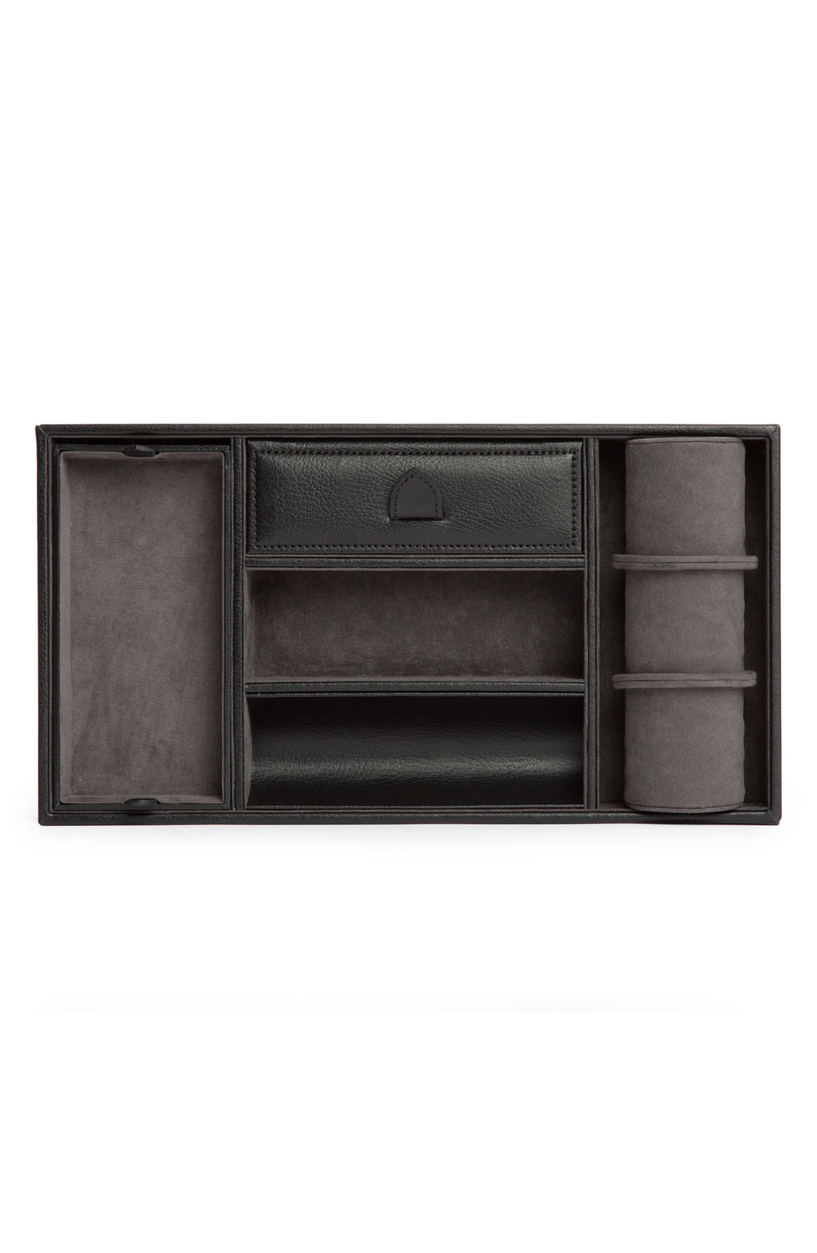 Blake Valet Tray & Watch Cuff,                             Alternate thumbnail 3, color,                             BLACK