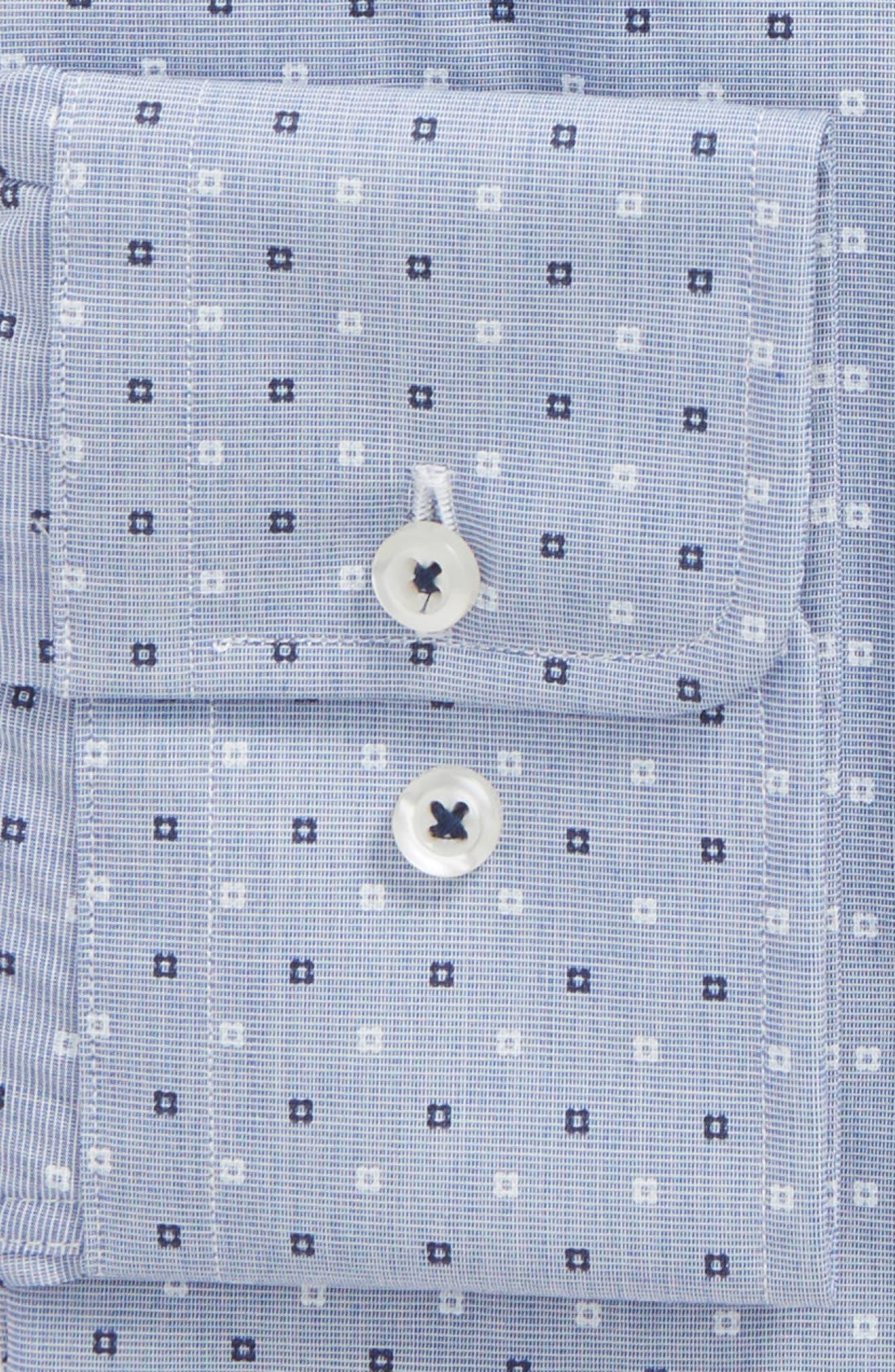Slim Fit Dot Dress Shirt,                             Alternate thumbnail 2, color,                             423