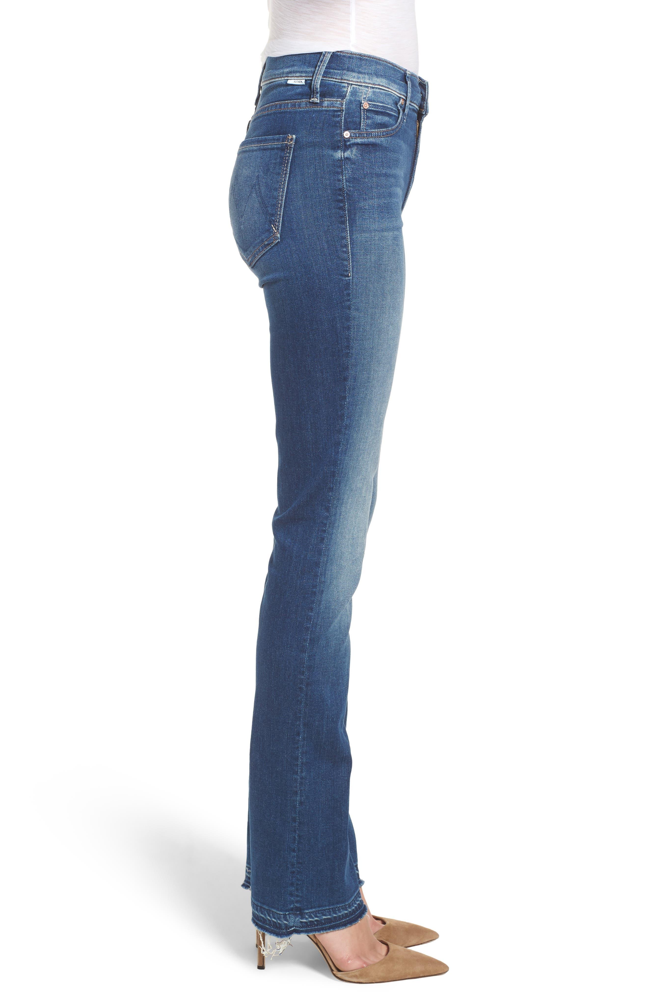 The Rascal Released Hem Straight Leg Jeans,                             Alternate thumbnail 3, color,                             400