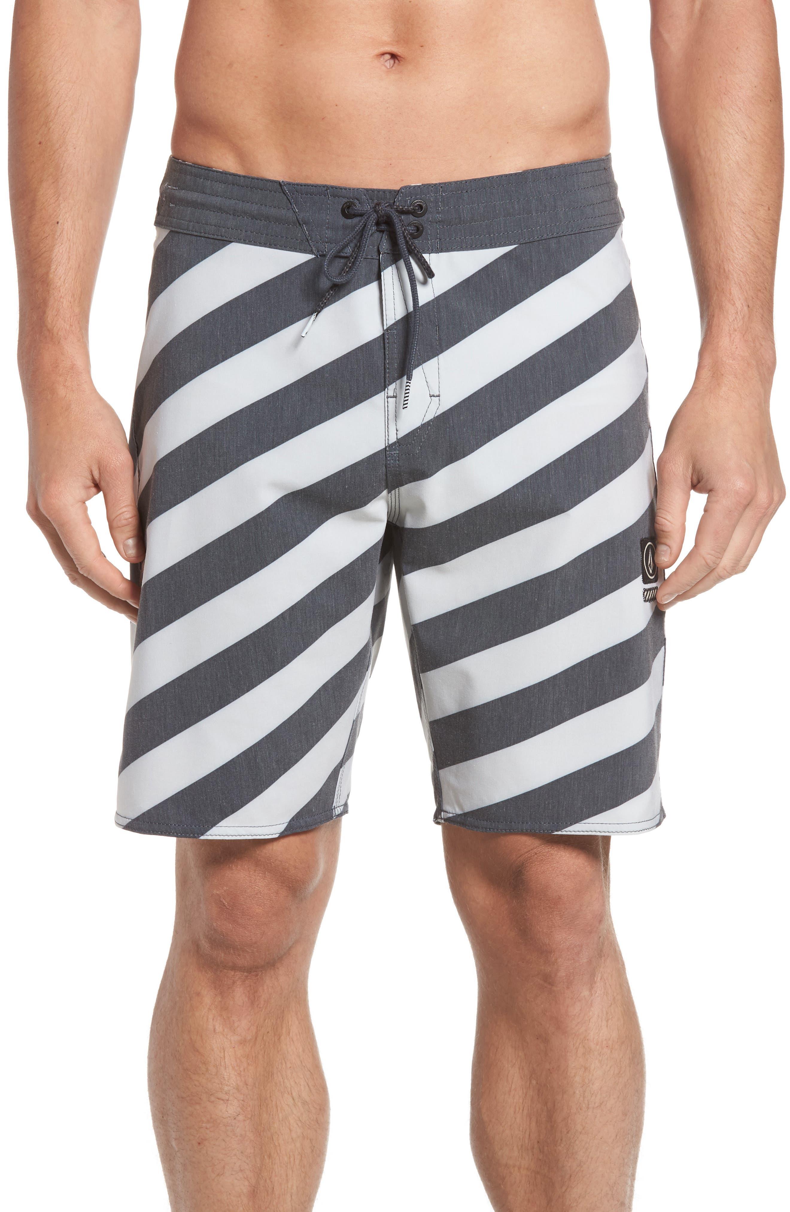 Stripey Slinger Board Shorts,                             Main thumbnail 1, color,