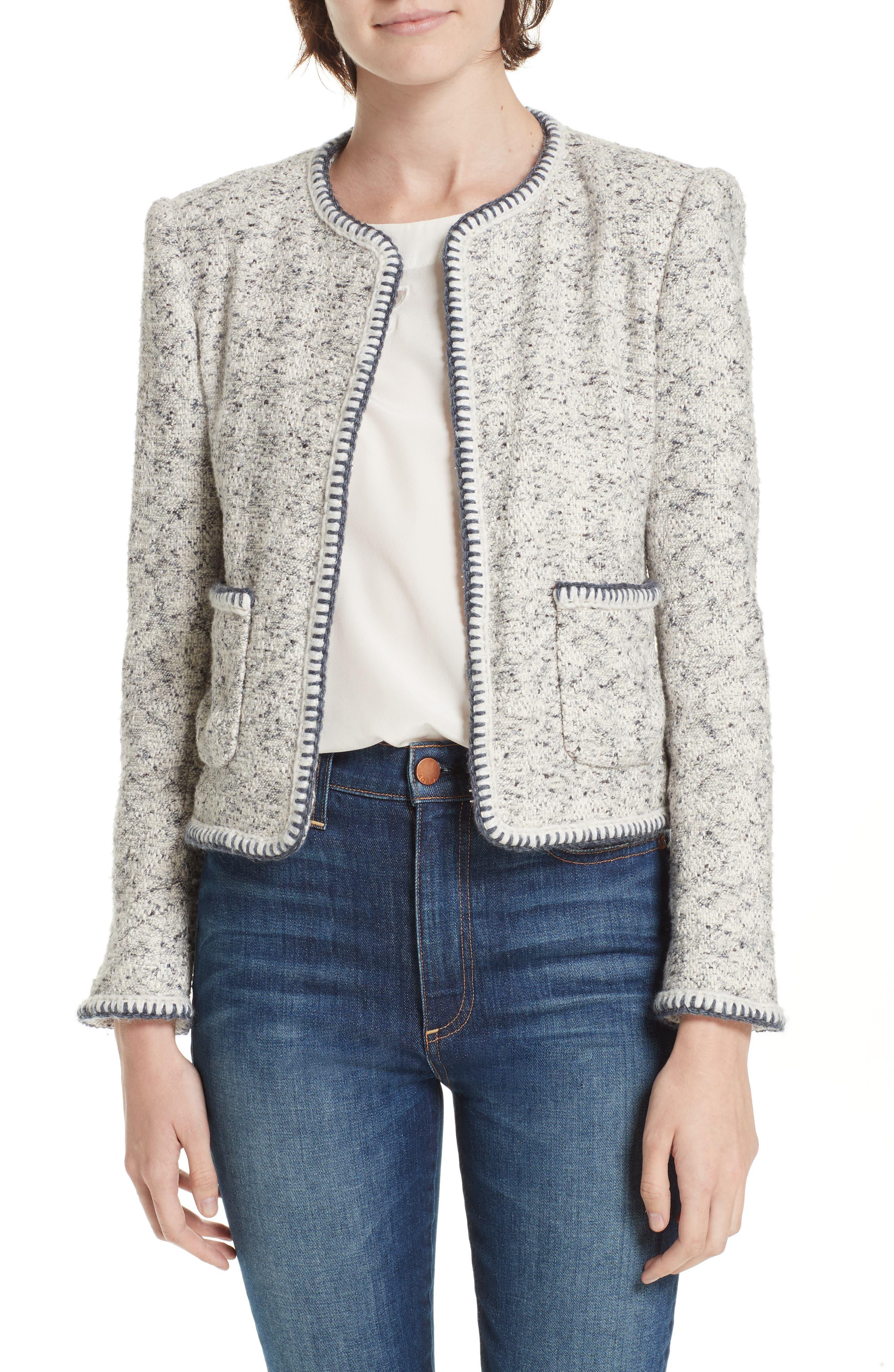 Speckled Tweed Jacket,                         Main,                         color, 054