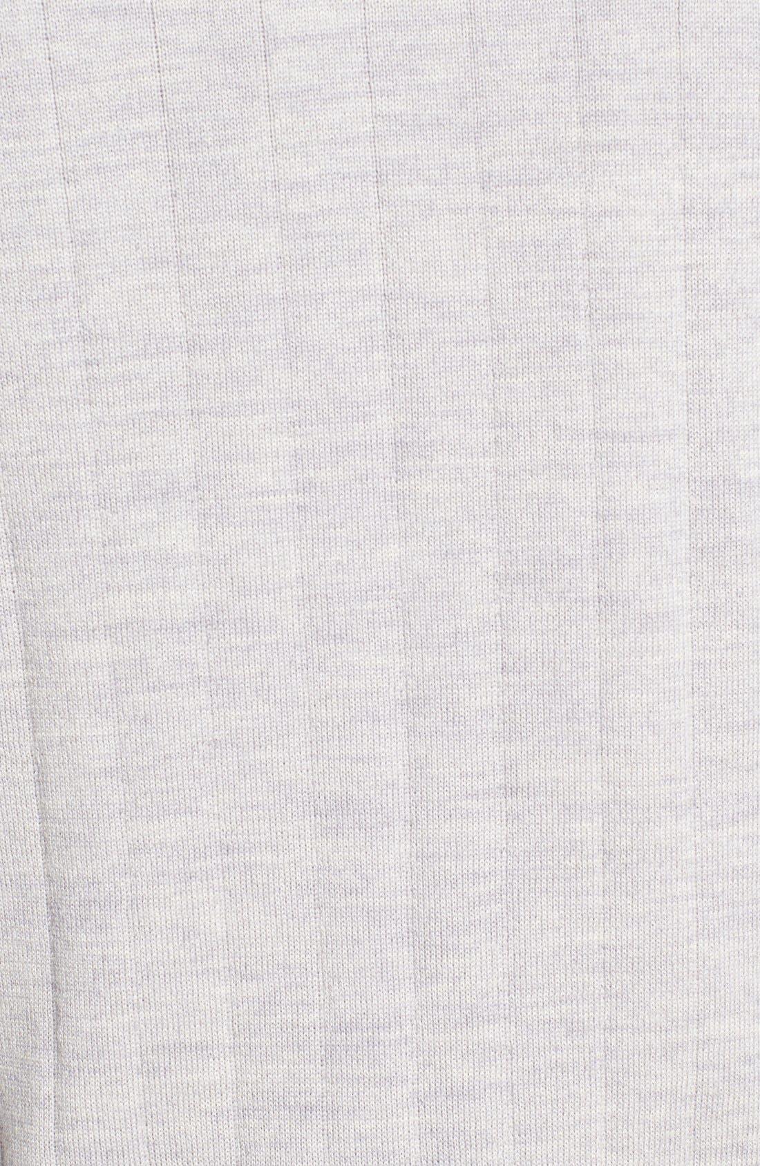 Windproof Merino Wool Quarter Zip Sweater,                             Alternate thumbnail 5, color,                             HEATHER GREY