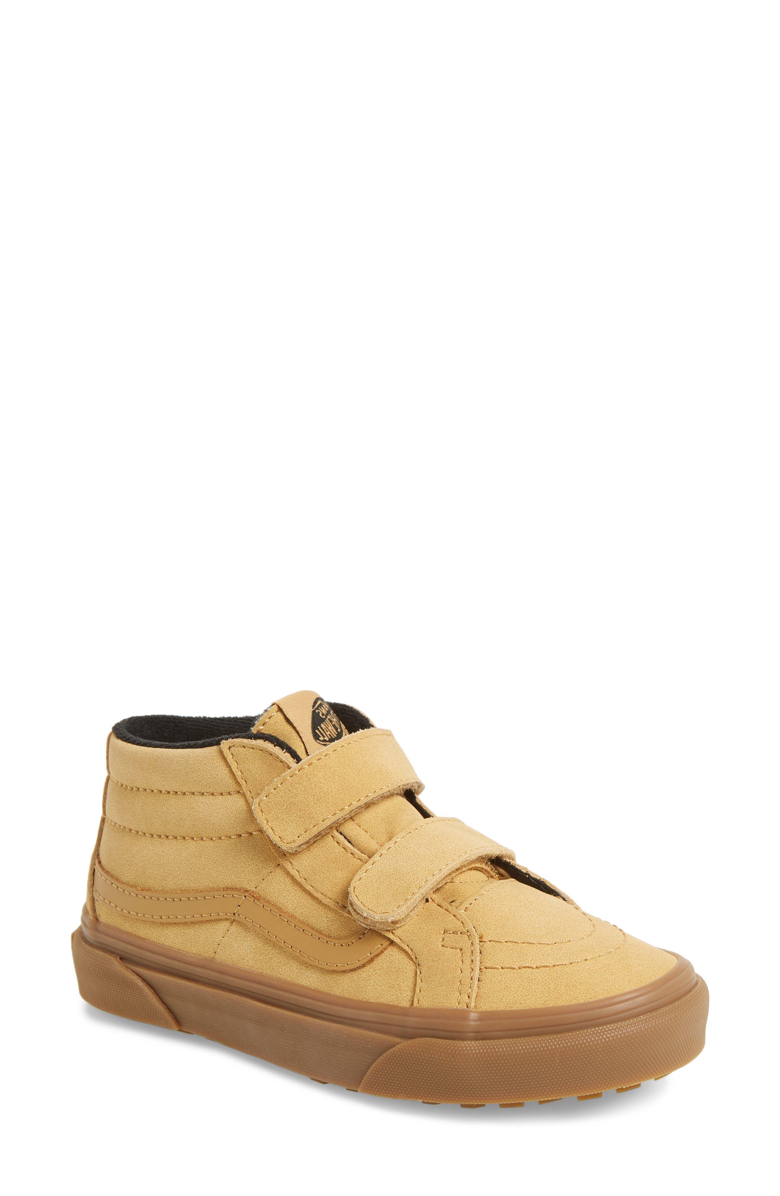 VANS,                             Sk8-Mid Reissue V Sneaker,                             Main thumbnail 1, color,                             VANSBUCK/ APPLE CINNAMON