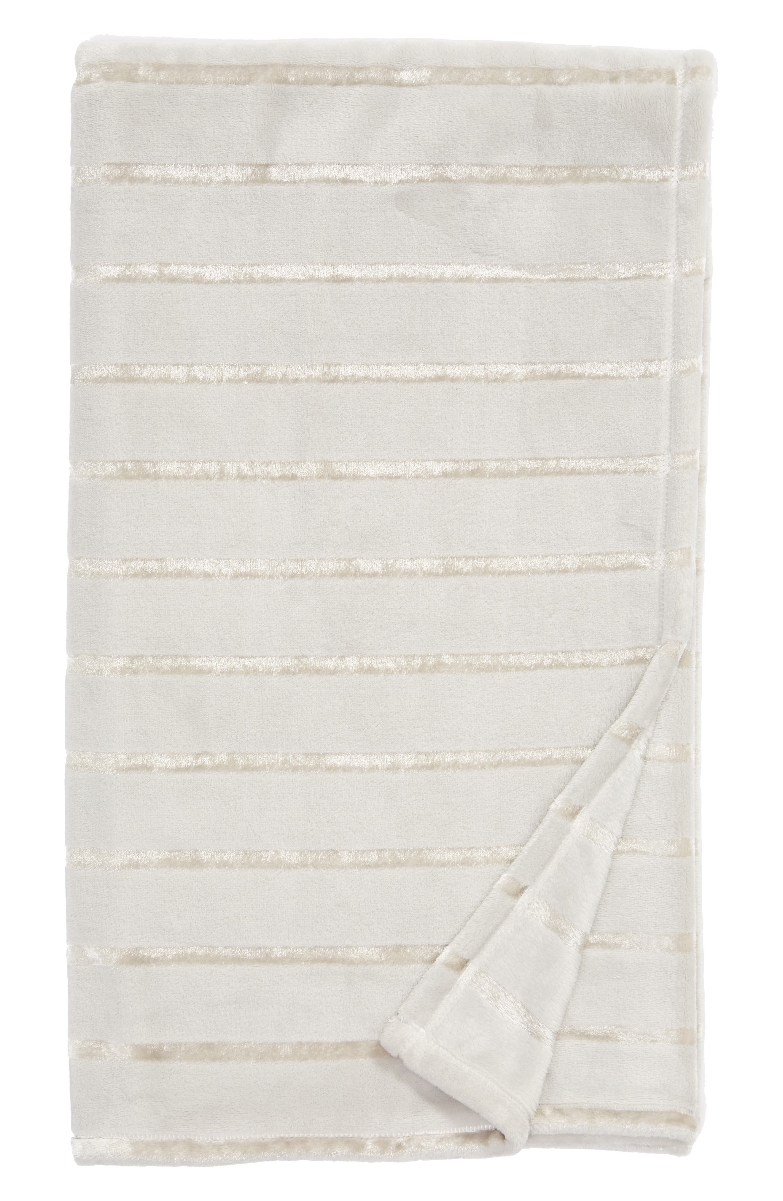 Shimmer Stripe Throw,                         Main,                         color, 021