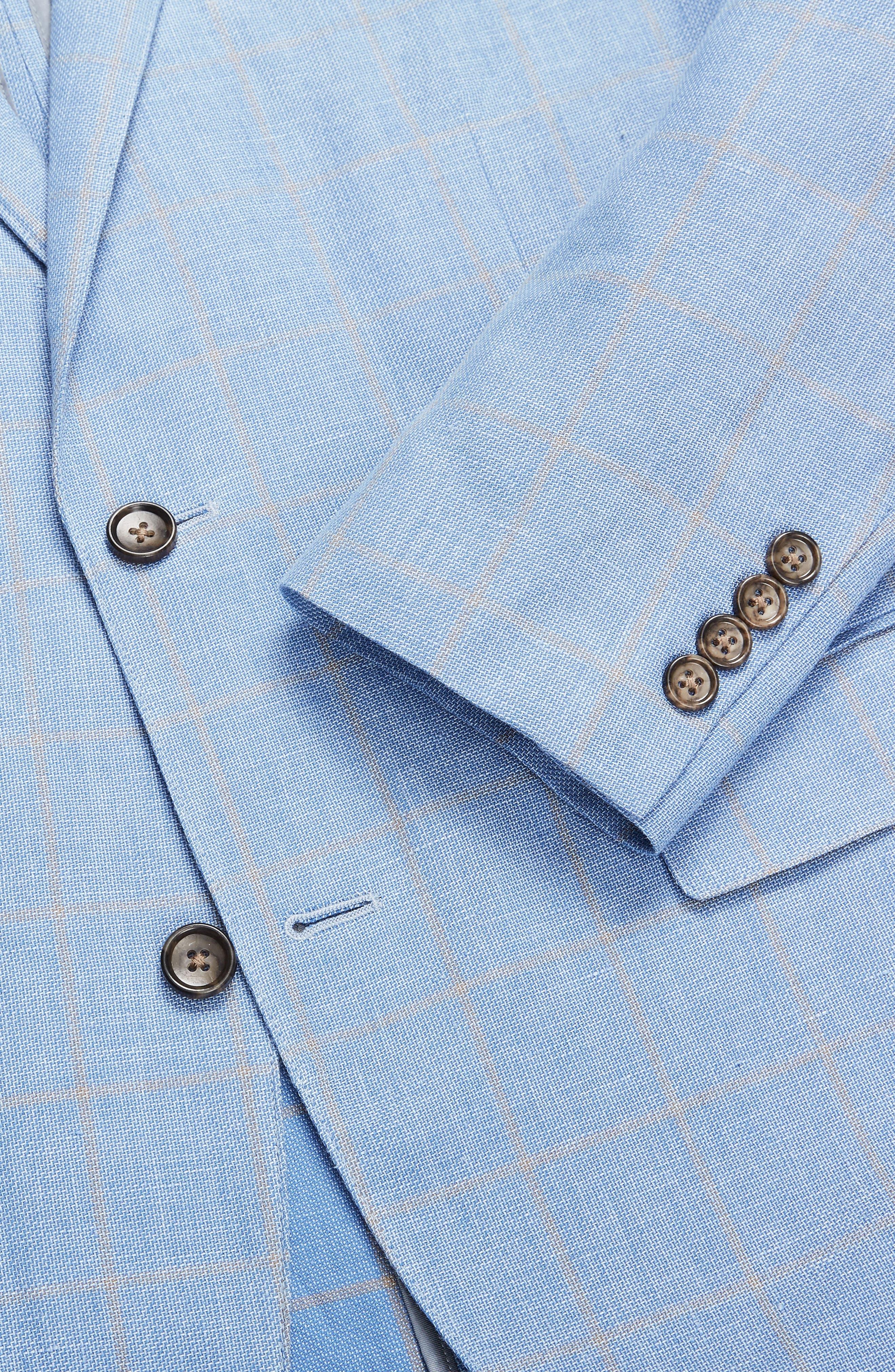 Slim Fit Cotton & Linen Unconstructed Blazer,                             Alternate thumbnail 3, color,                             400