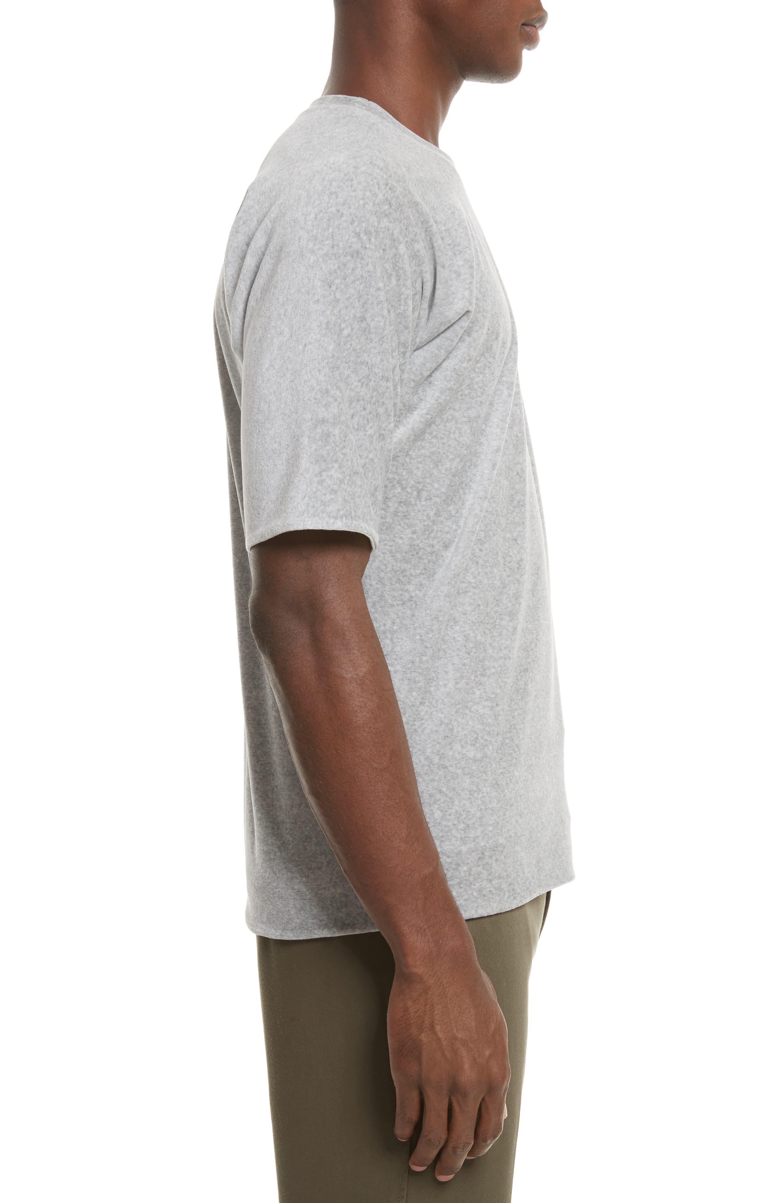 Reversible Double Layer T-Shirt,                             Alternate thumbnail 4, color,                             LIGHT GREY