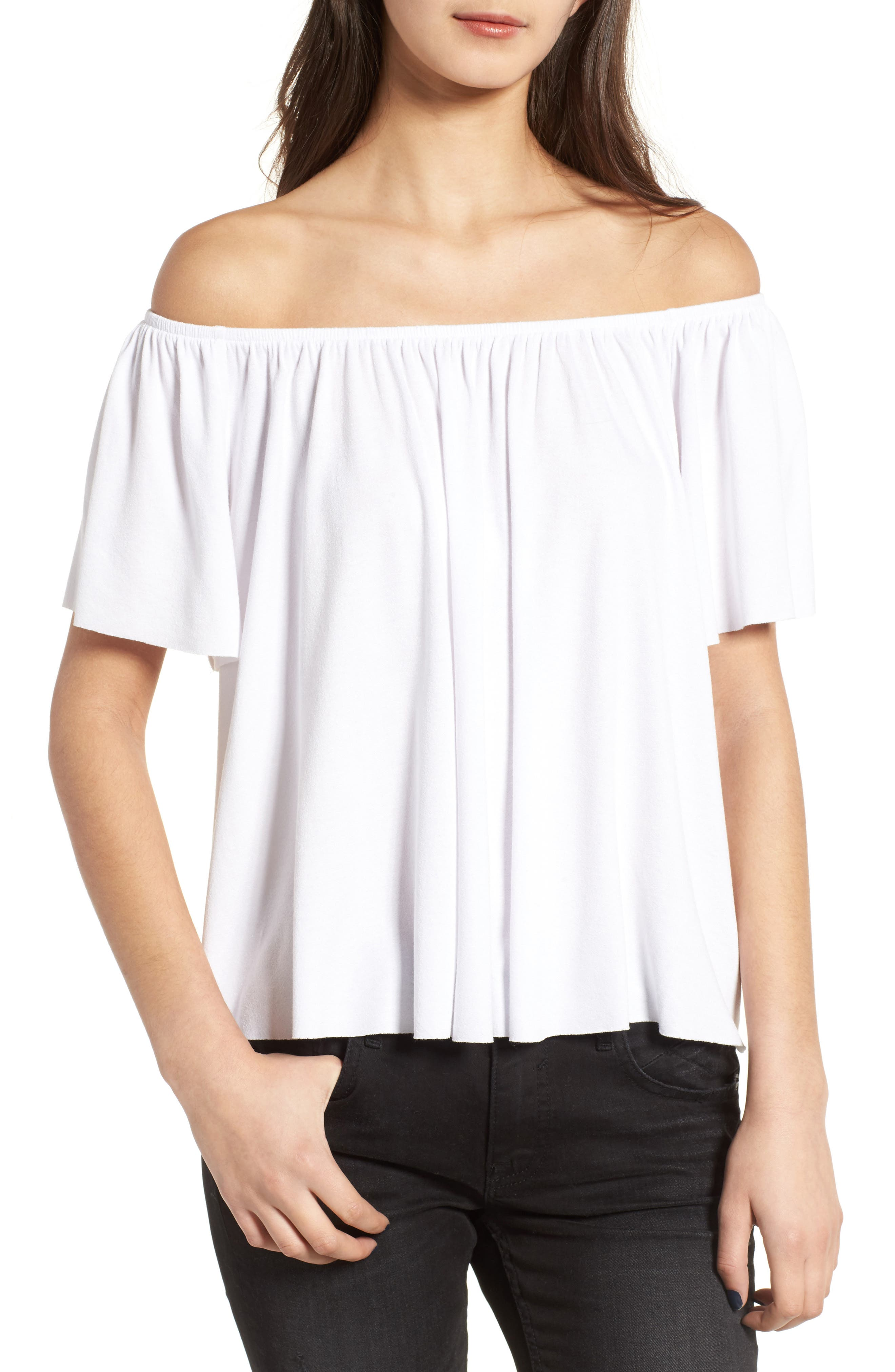 Off the Shoulder Top,                             Main thumbnail 5, color,