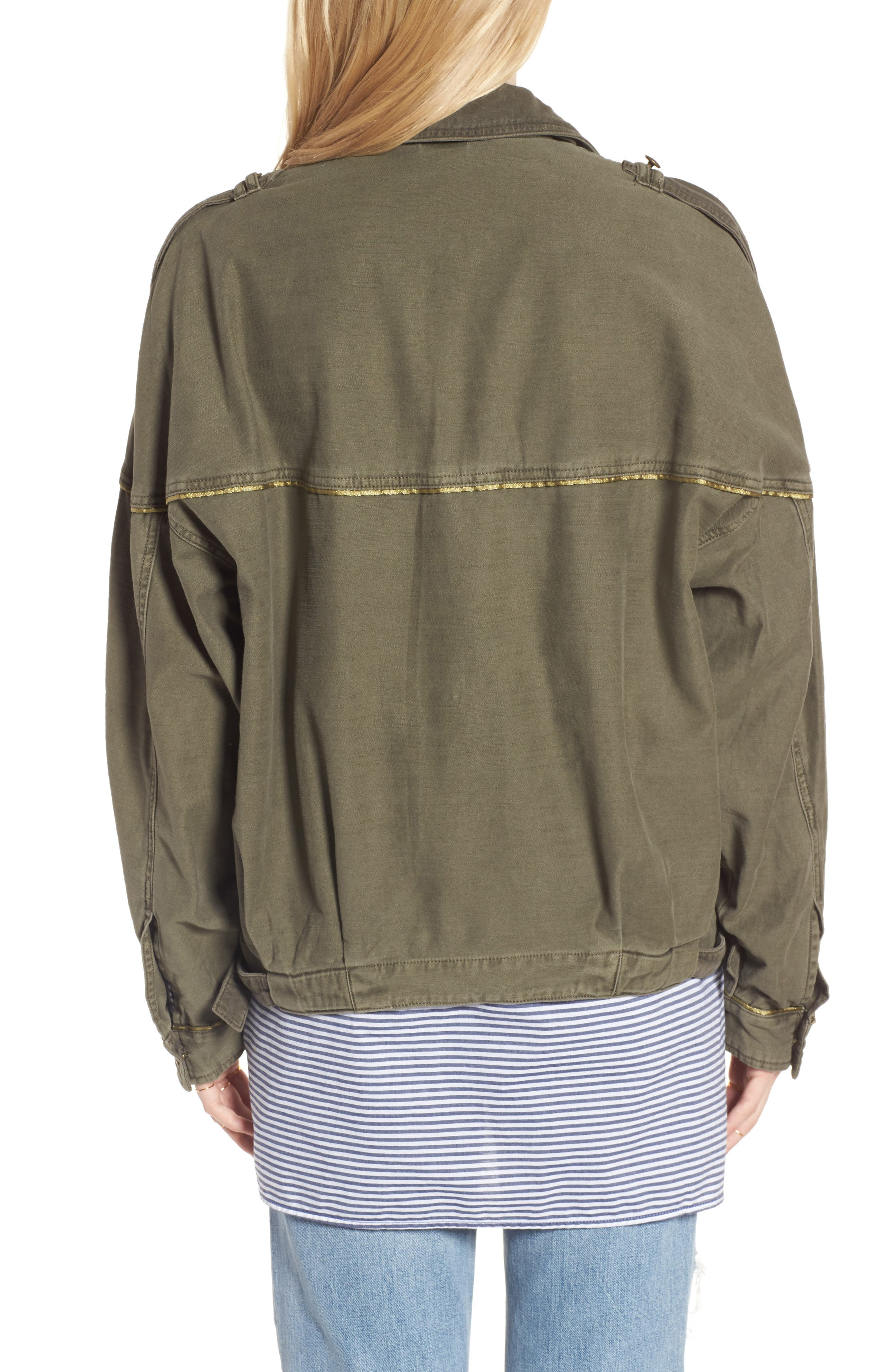 Slouchy Military Jacket,                             Alternate thumbnail 2, color,