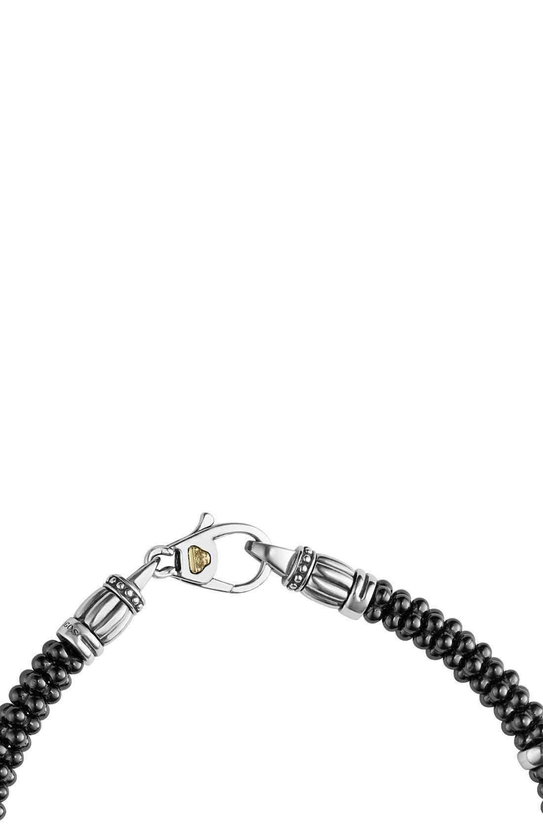 'Black & White Caviar' Bracelet,                             Alternate thumbnail 4, color,                             BLACK/ SILVER