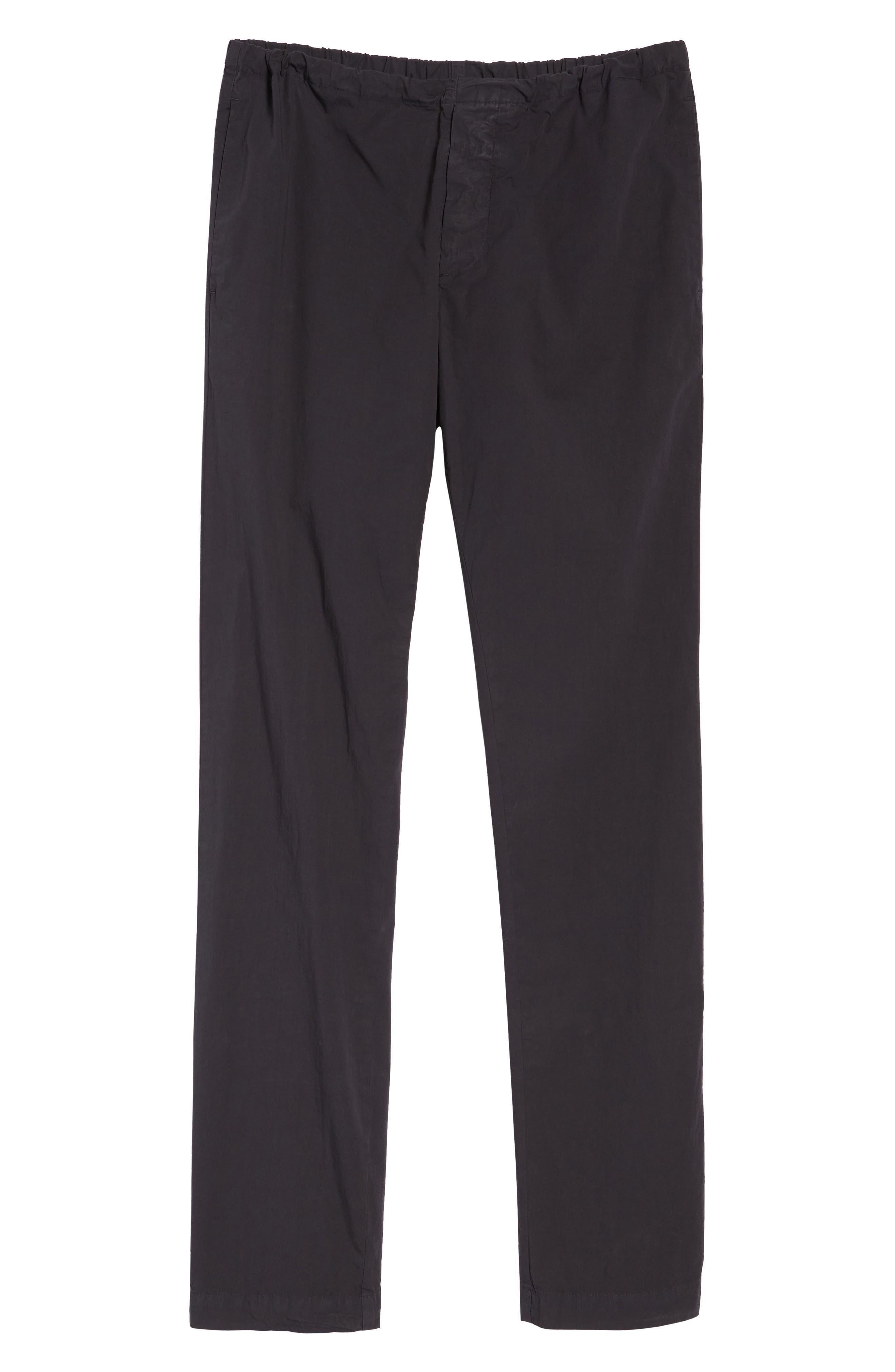 Slim Stretch Poplin Drawcord Pants,                             Alternate thumbnail 6, color,                             001