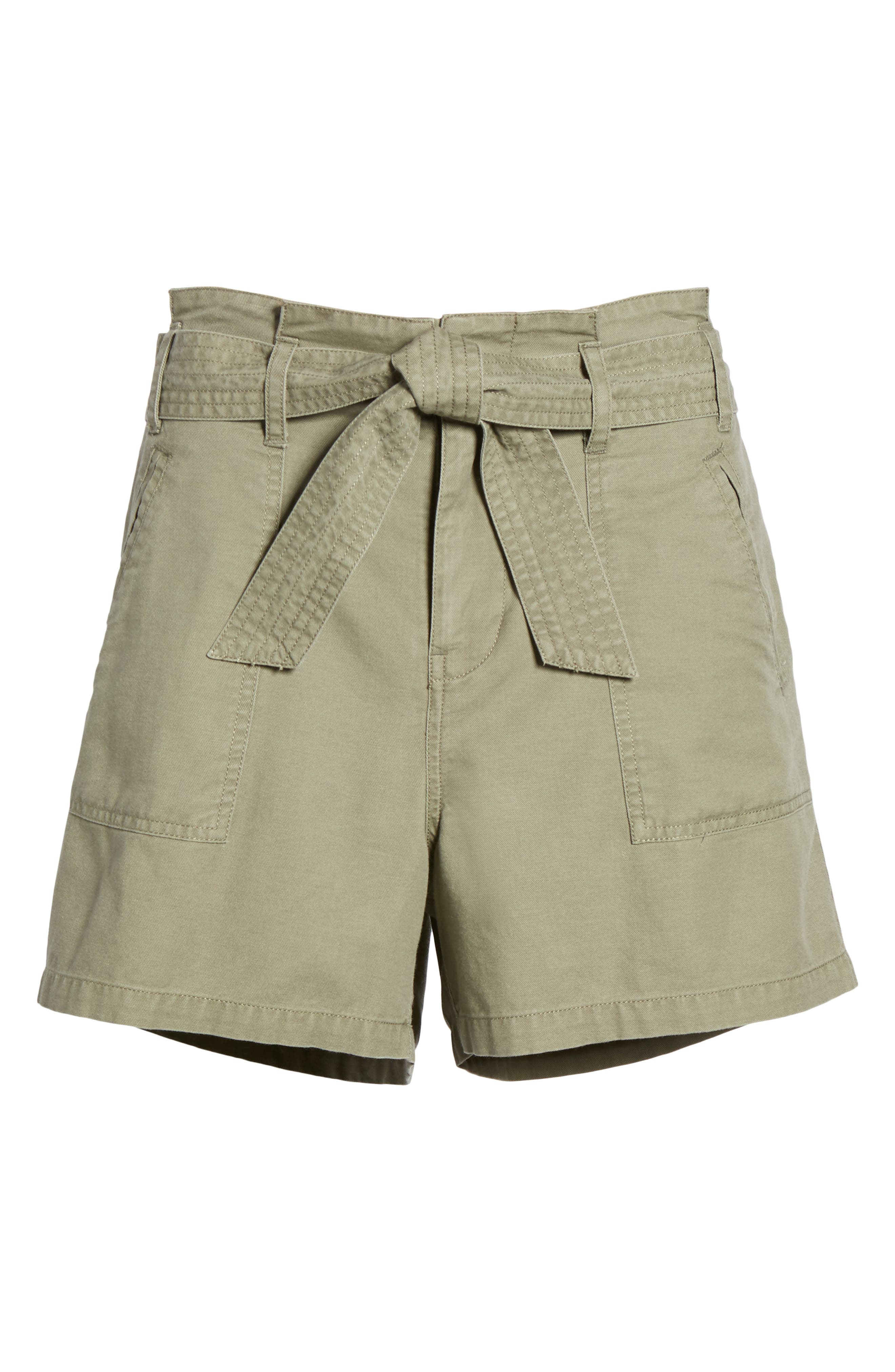 Belted Twill Shorts,                             Alternate thumbnail 18, color,